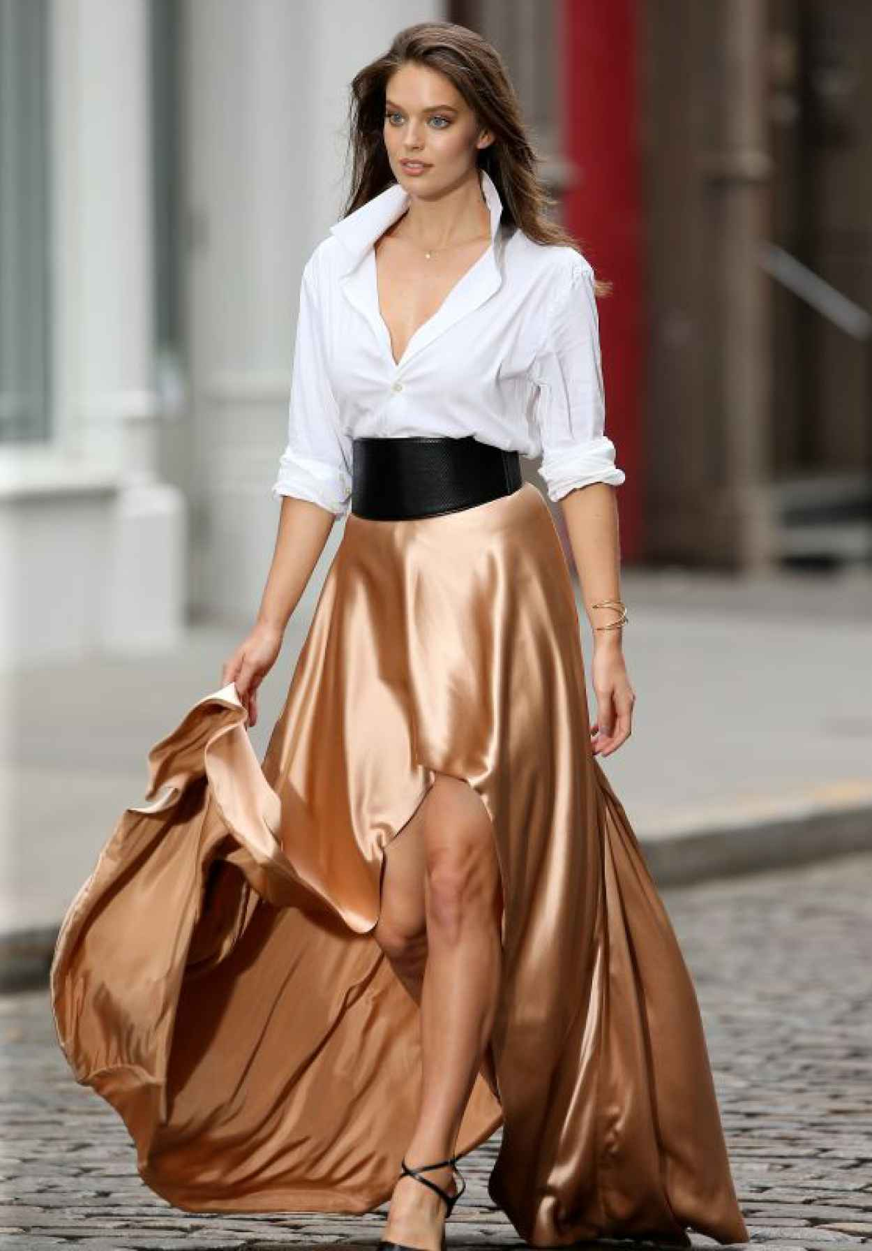 Emily Didonato - Filming a Maybelline Commercial in SoHo, May 2015-1