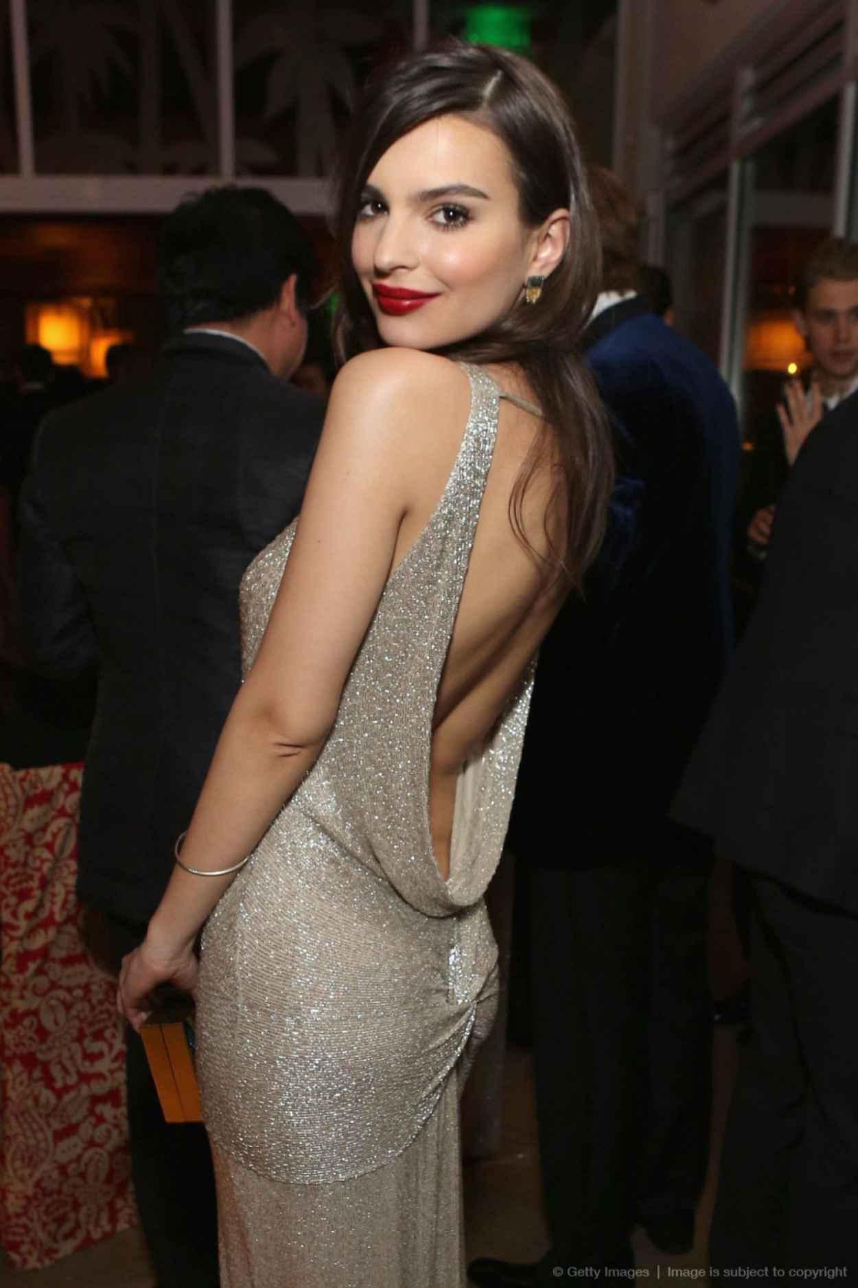 Emily Ratajkowski - InStyle & Warner Bros. 2015 Golden Globes Party-1
