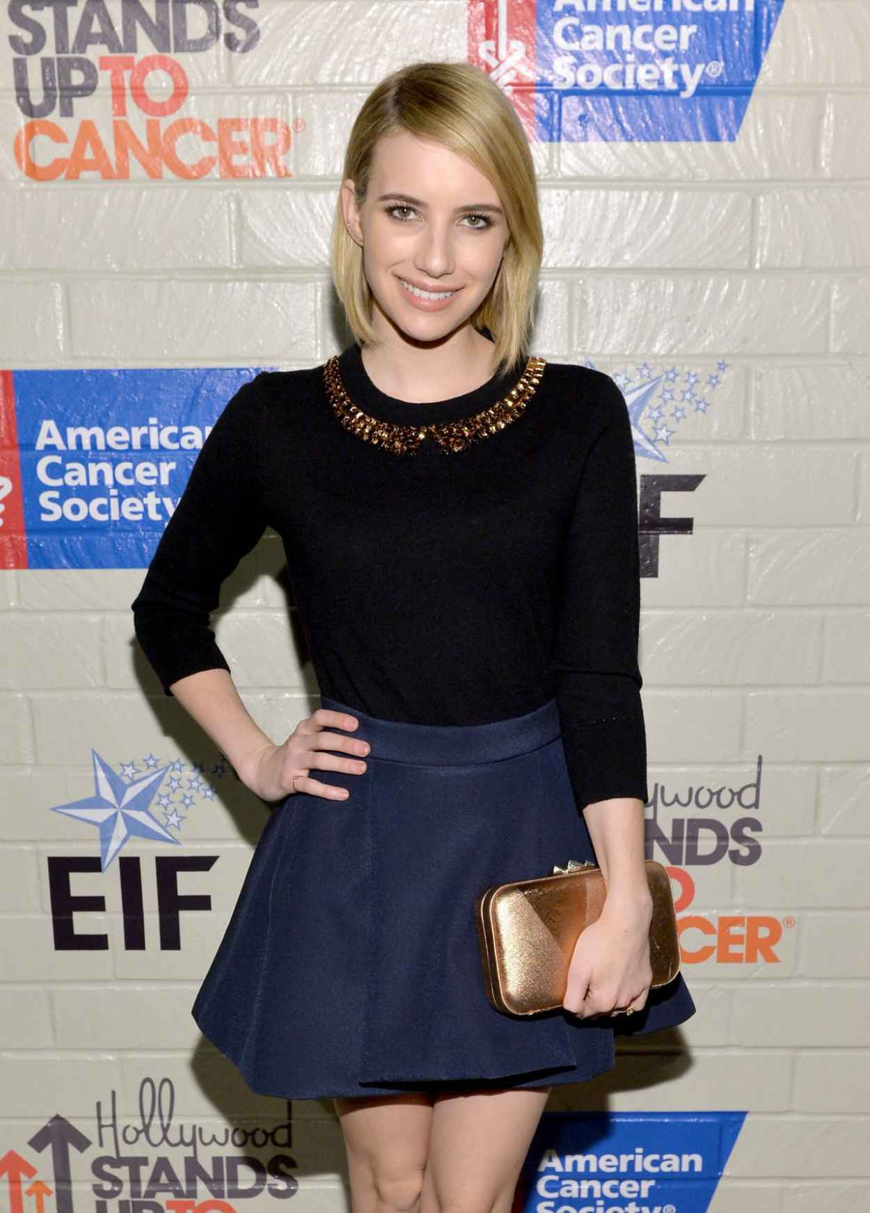 Emma Roberts - Hollywood Stands Up To Cancer Event in Culver City, January 2015-1