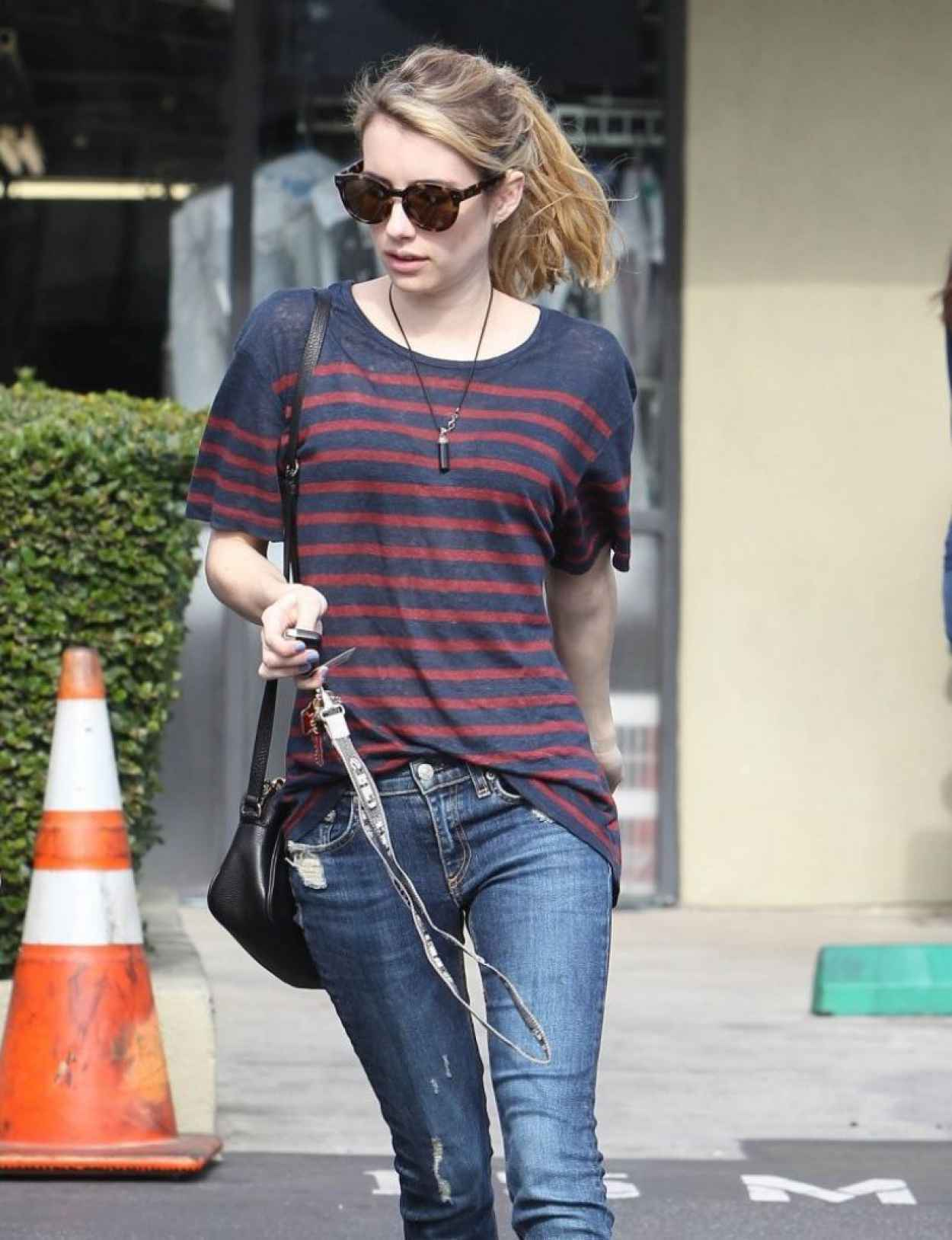 Emma Roberts in Jeans at a Dry Cleaners in West Hollywood ...