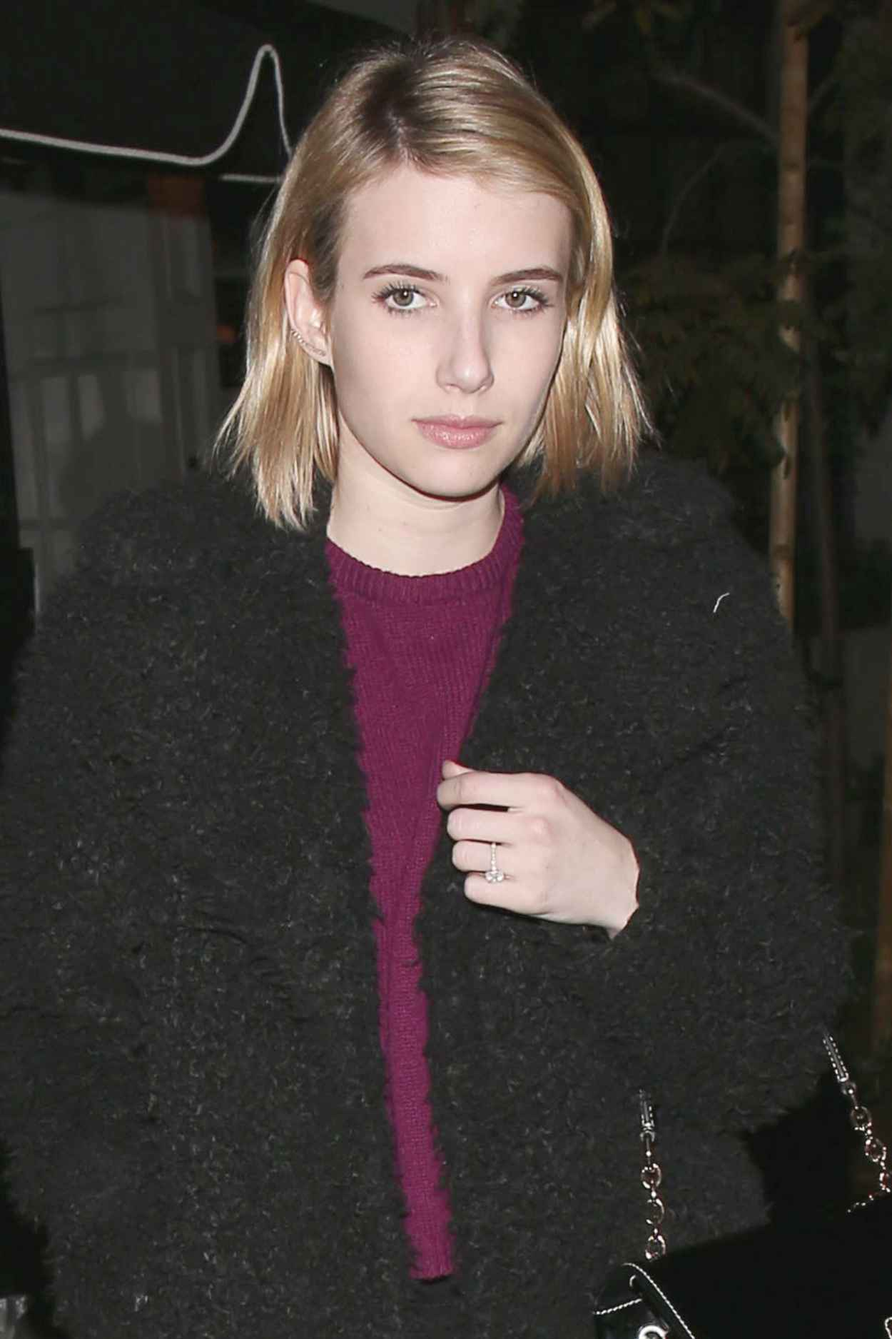 Emma Roberts Nigh Out Style - Leaves After Having Dinner at Craigs in West Hollywood-1