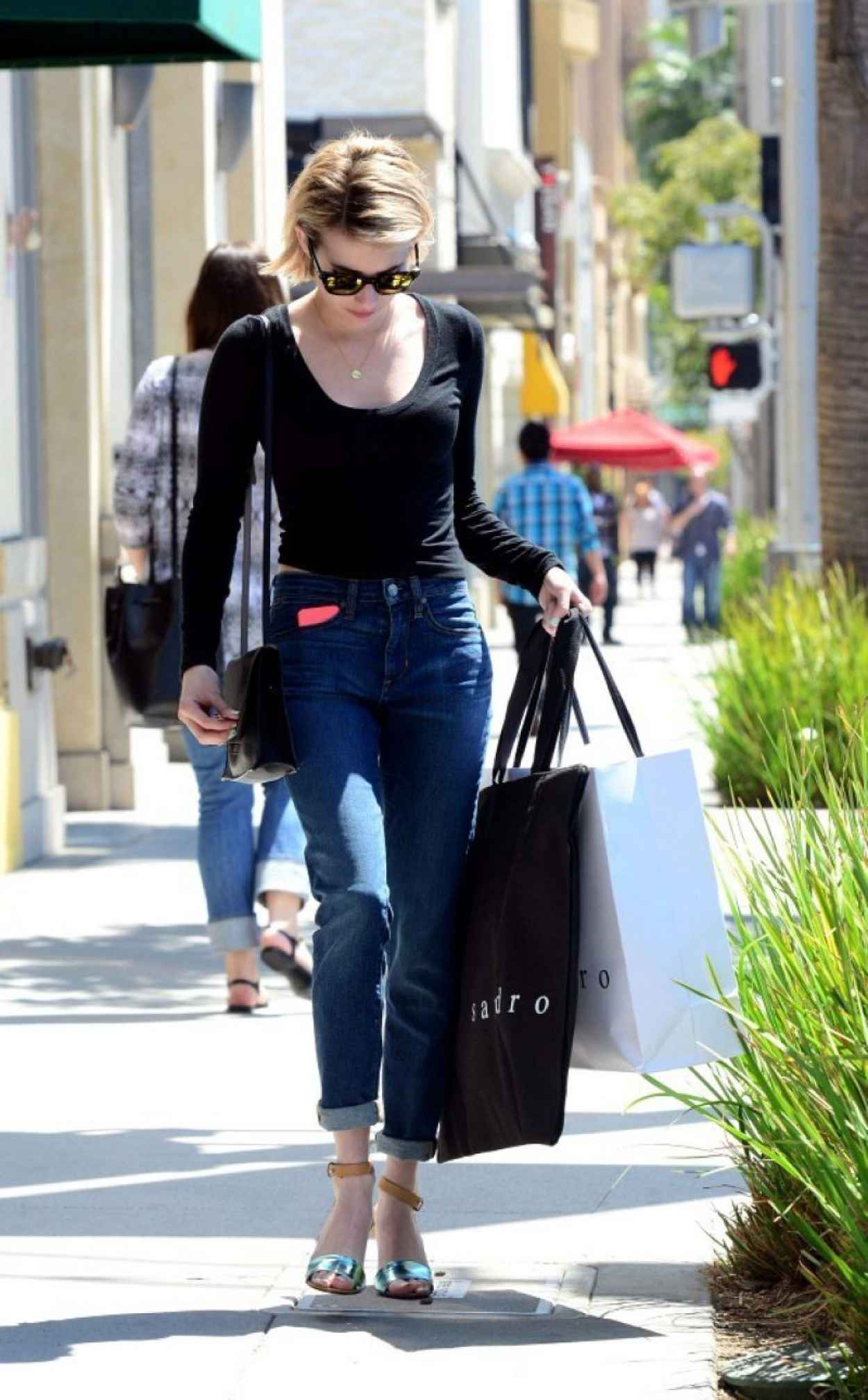 Emma Roberts Street Style - Shopping in West Hollywood - April 2015-1