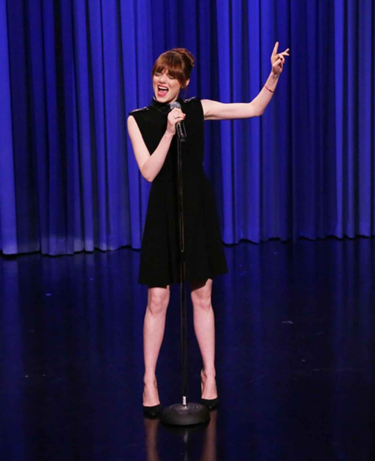 Emma Stone at The Tonight Show with Jimmy Fallon - April 2015-1
