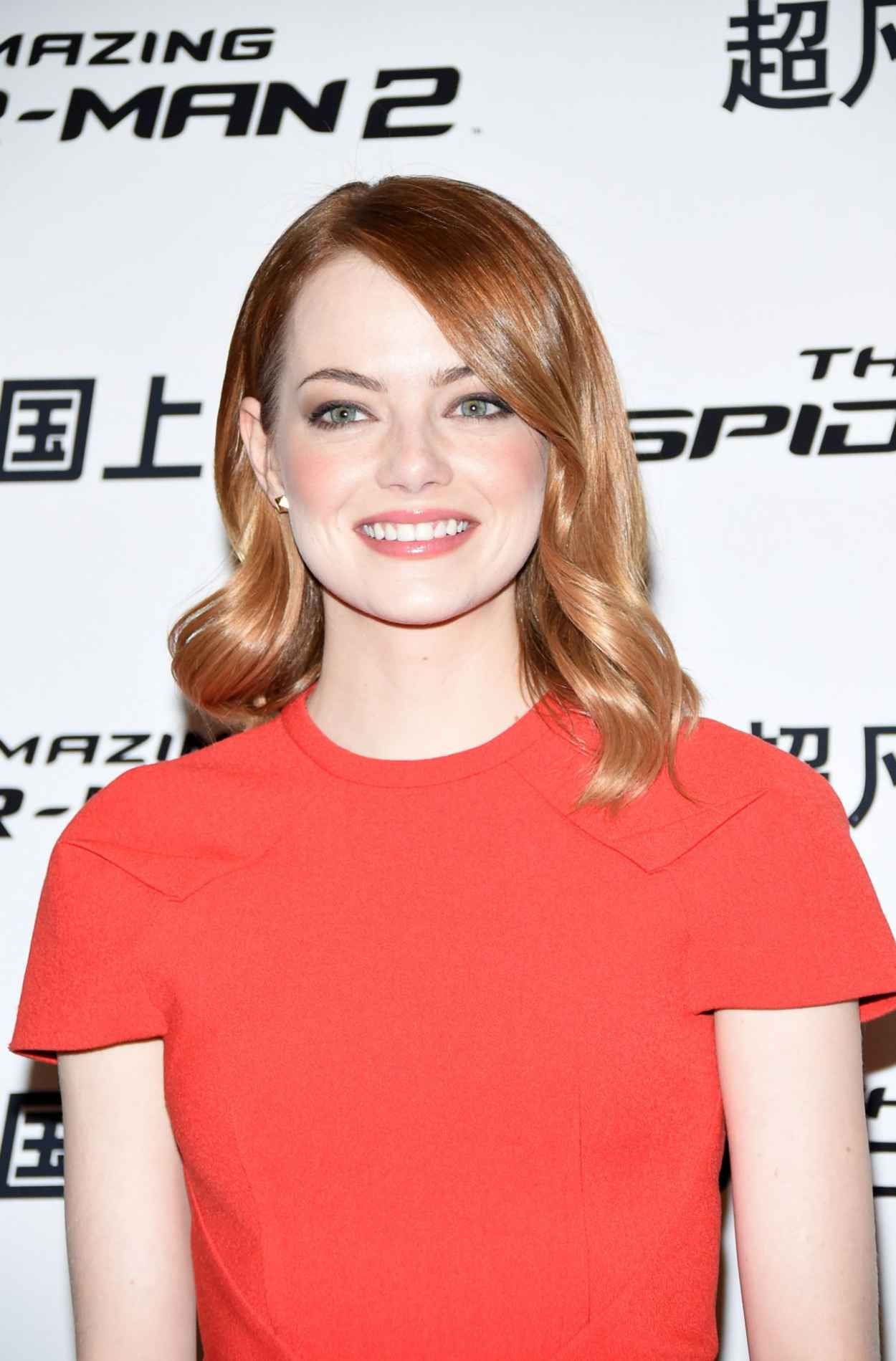 Emma Stone in China - Amazing Spider-Man 2 Photocall in Beijing-1