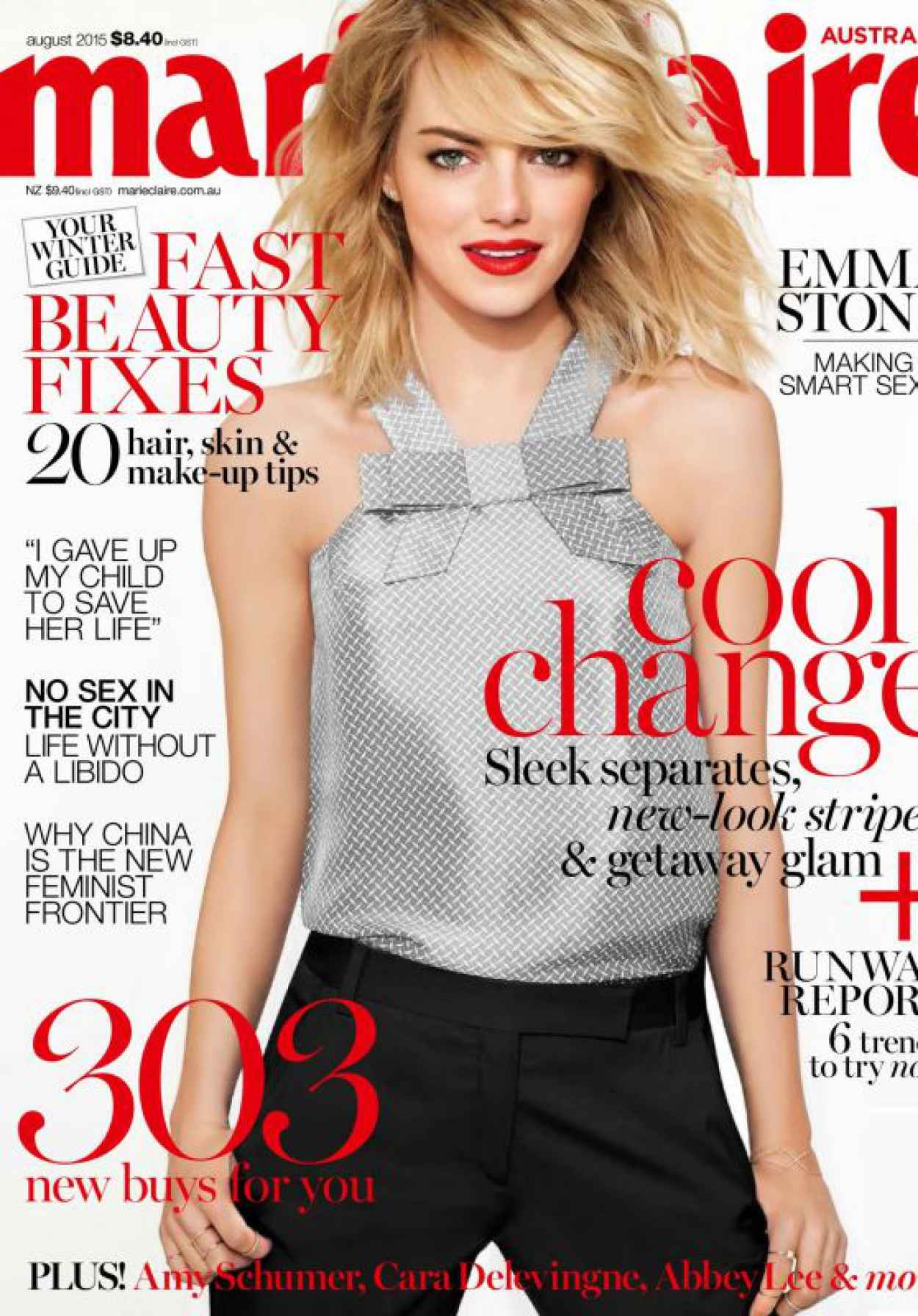 Emma Stone - Marie Claire Magazine Australia August 2015 Issue-1