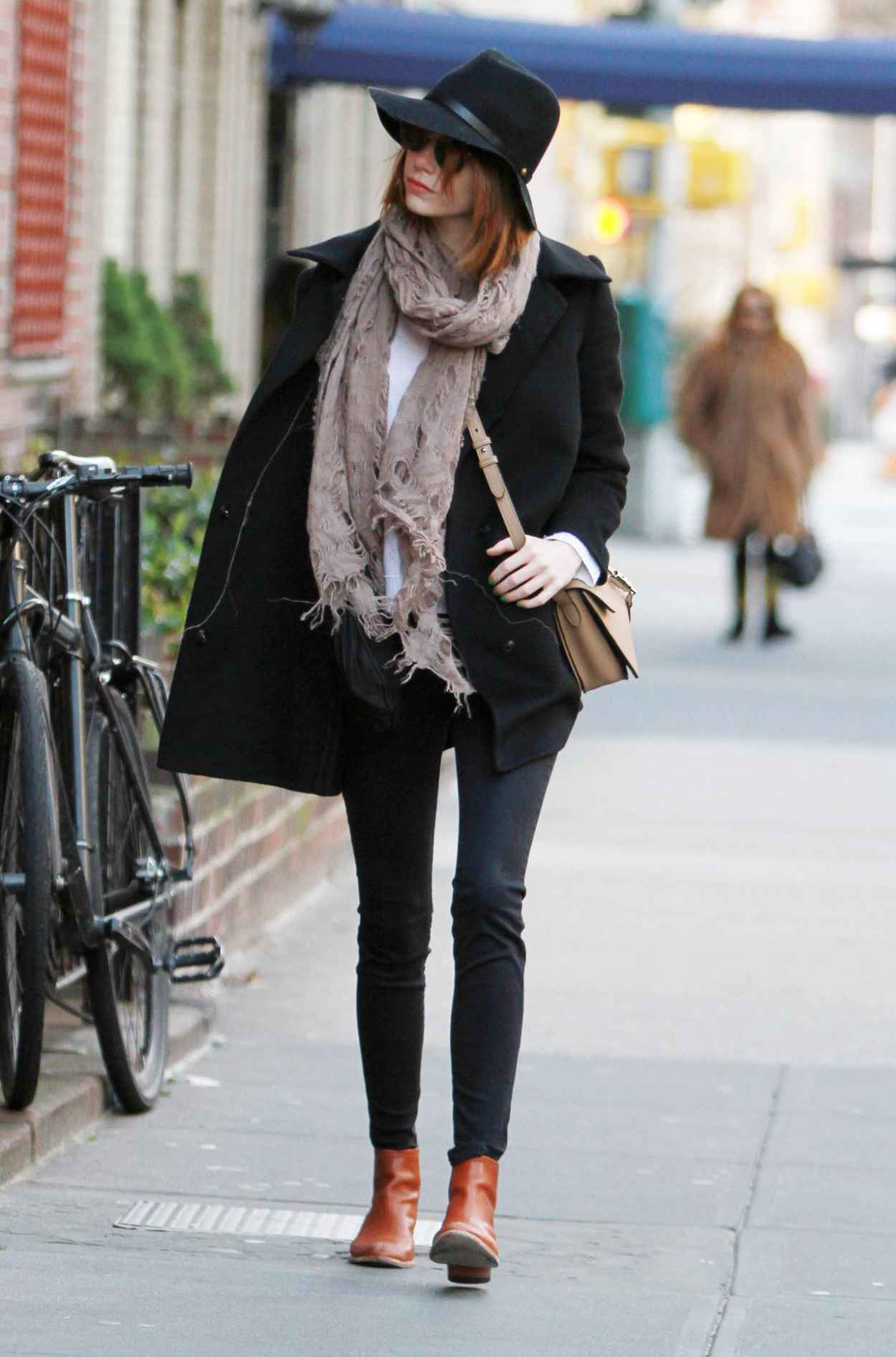 Emma Stone Style Out In New York City December 2015