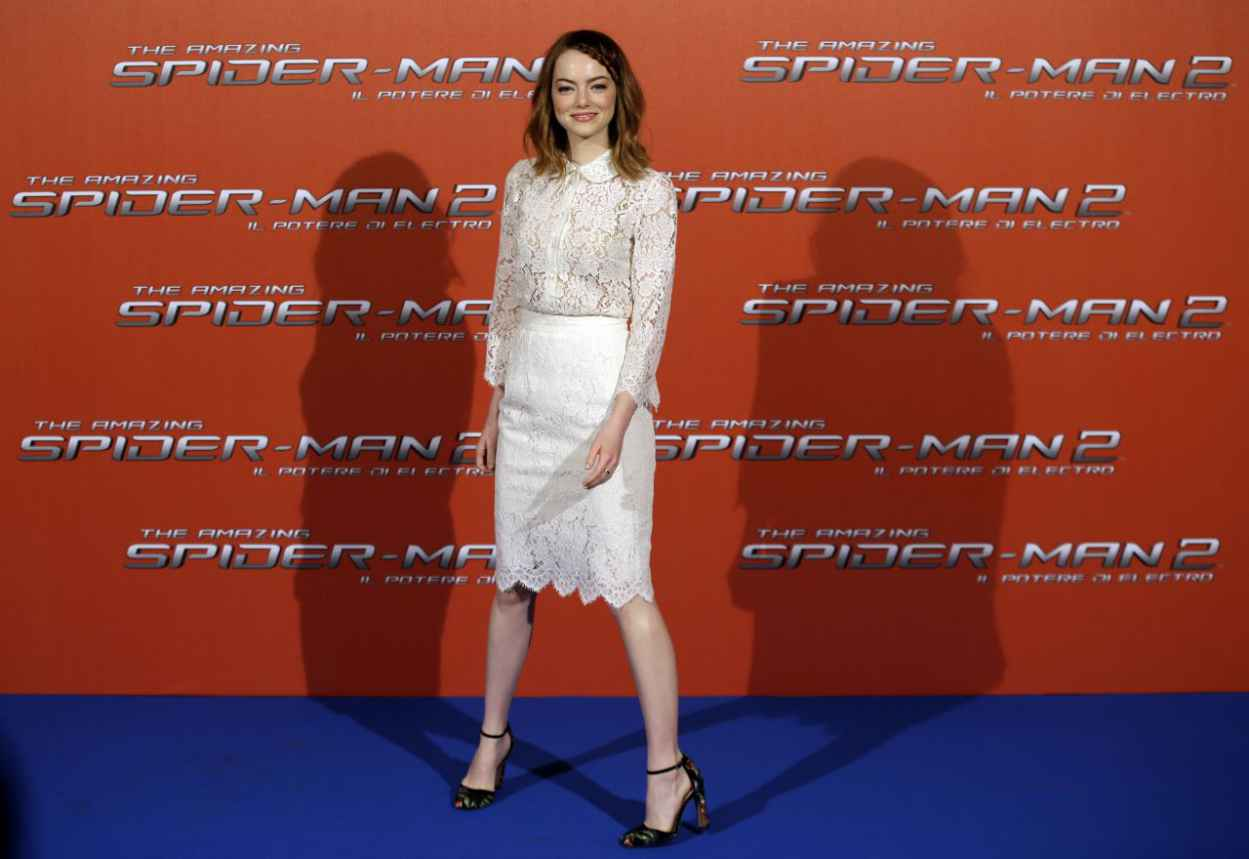 Emma Stone - The Amazing Spider-Man 2 Photocall in Rome, Italy-1