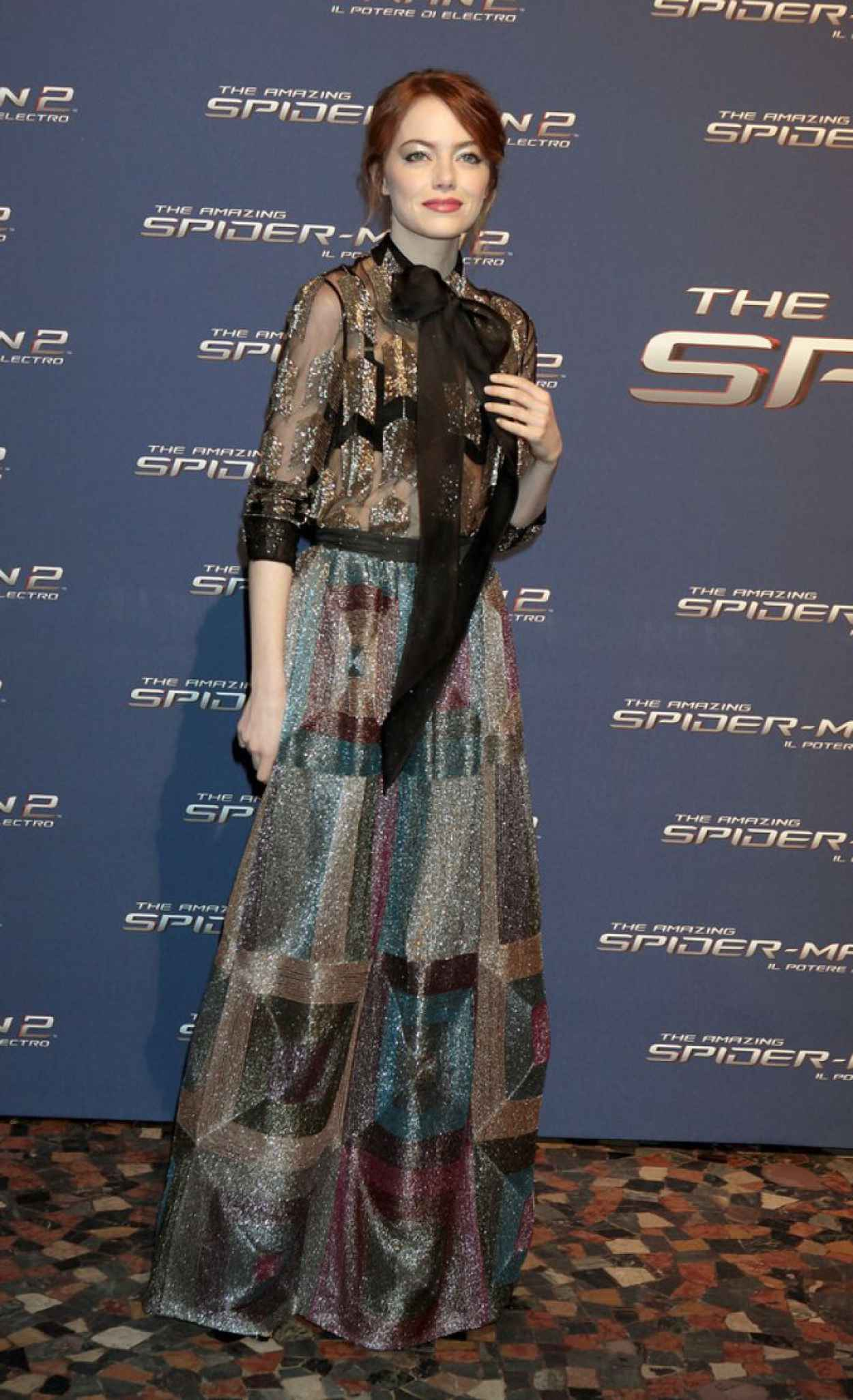 Emma Stone Wearing Valentino - The Amazing Spider-Man 2 Premiere in Rome-1