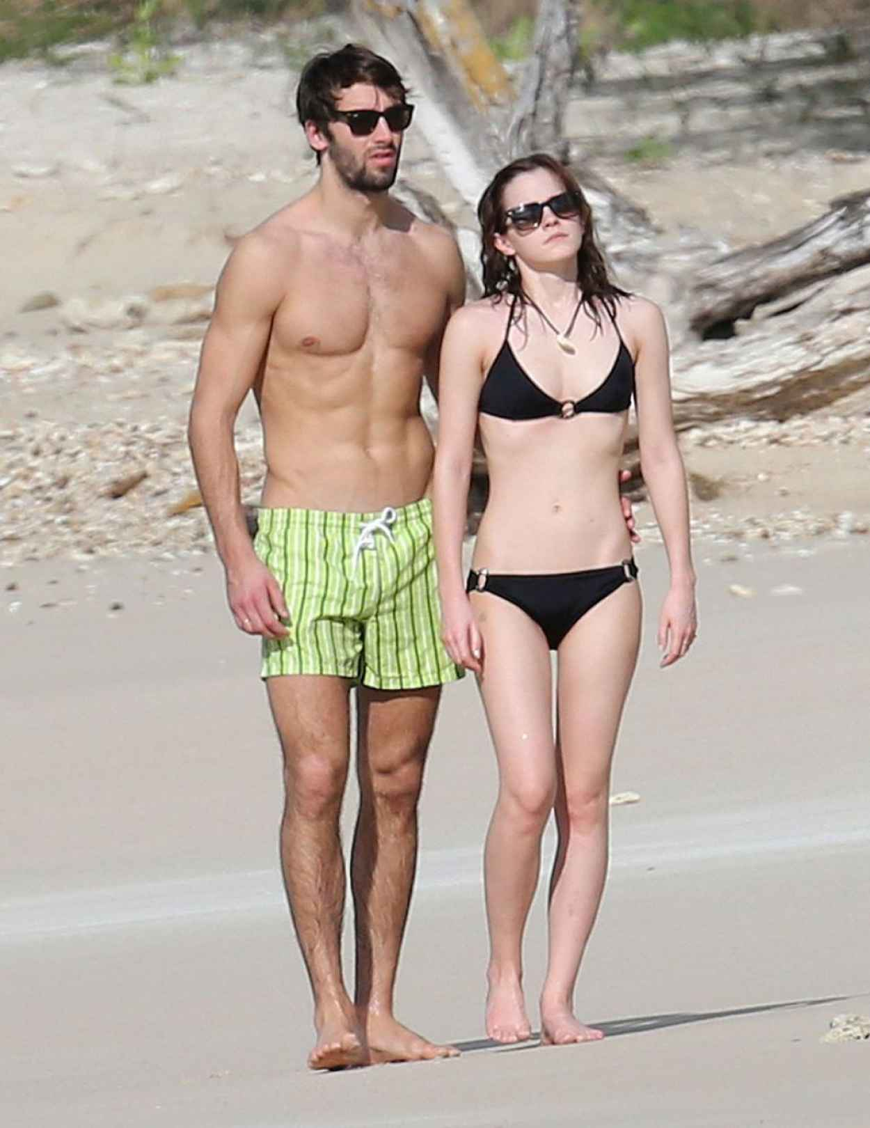 Emma Watson In Bikini With Boyfriend At A Carribean Beach