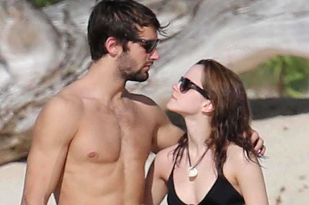 Emma Watson in Bikini With Boyfriend at a Carribean Beach - January 2015, Part II-1