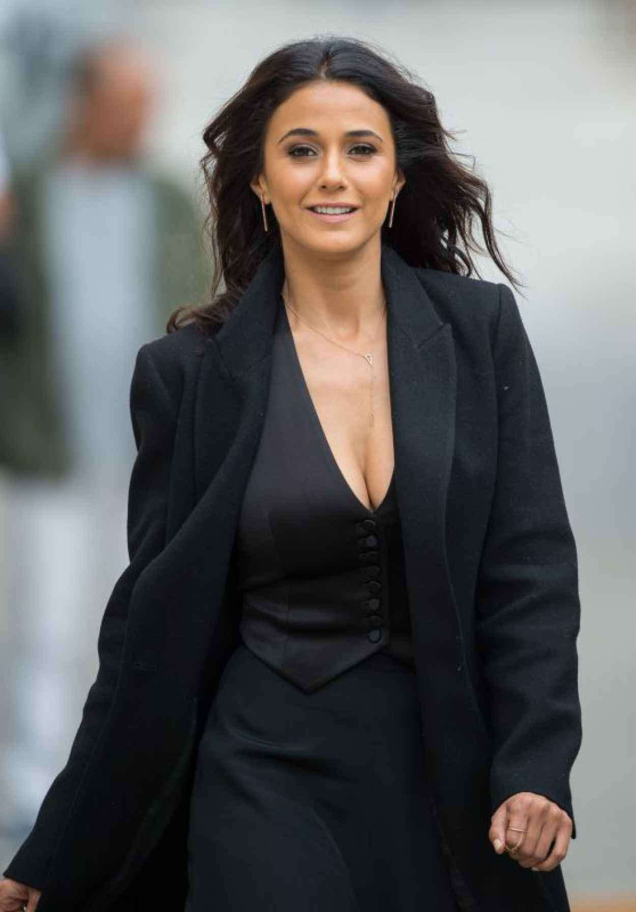 Emmanuelle Chriqui - at Jimmy Kimmel Live in Hollywood, June 2015-1