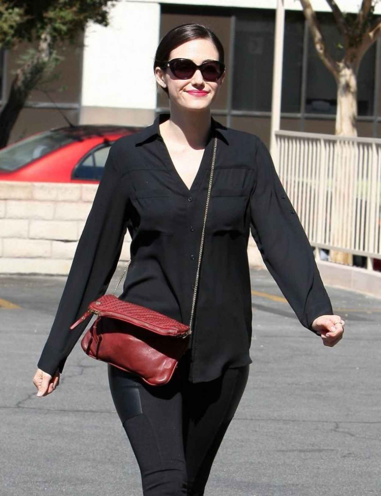Emmy Rossum In All Black, Los Angeles-1