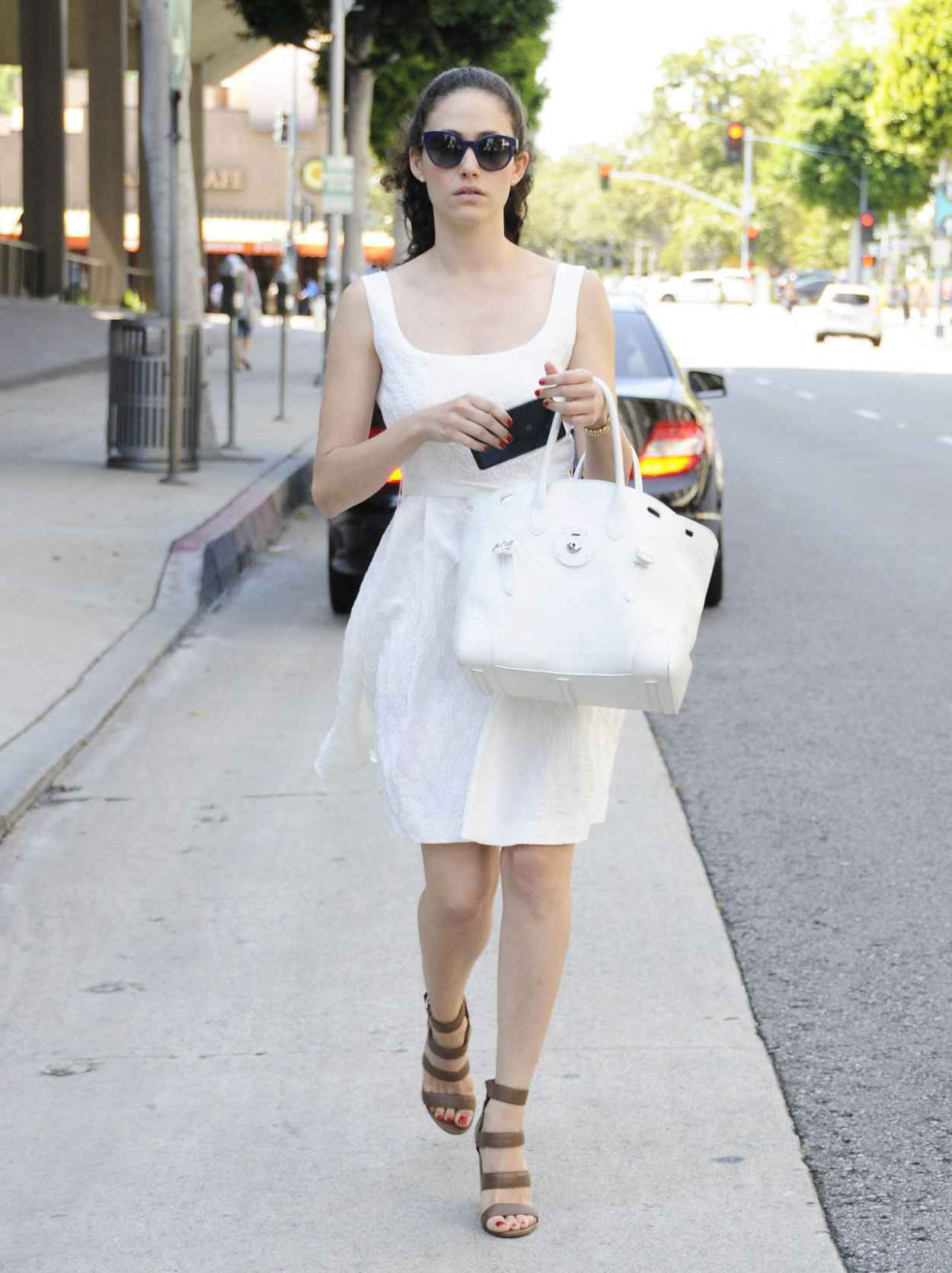 Emmy Rossum Summer Style 2015 - Out and About in Beverly Hills-5