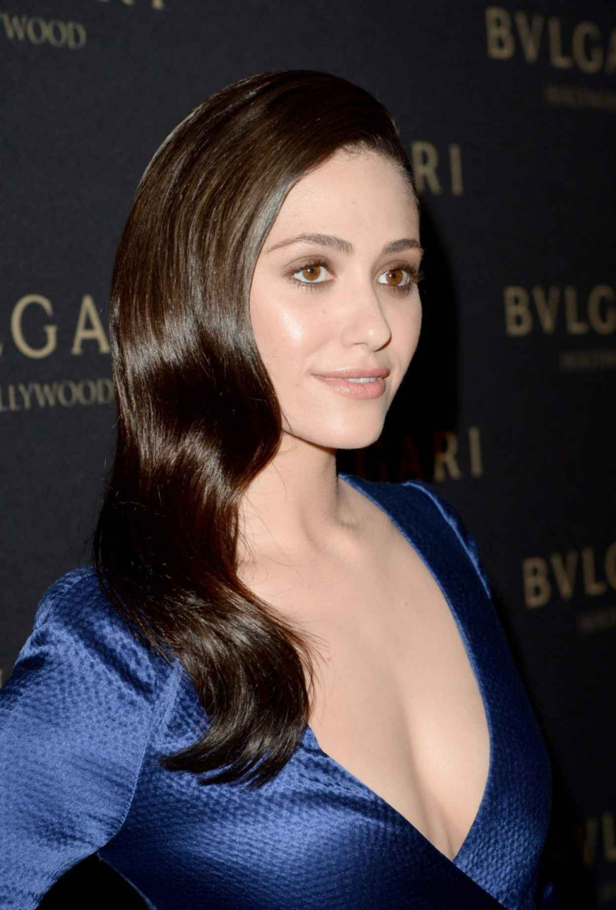 Emmy Rossum Wearing J.Mendel Dress - BVLGARI Presents -Decades Of Glamour-, February 2015-1