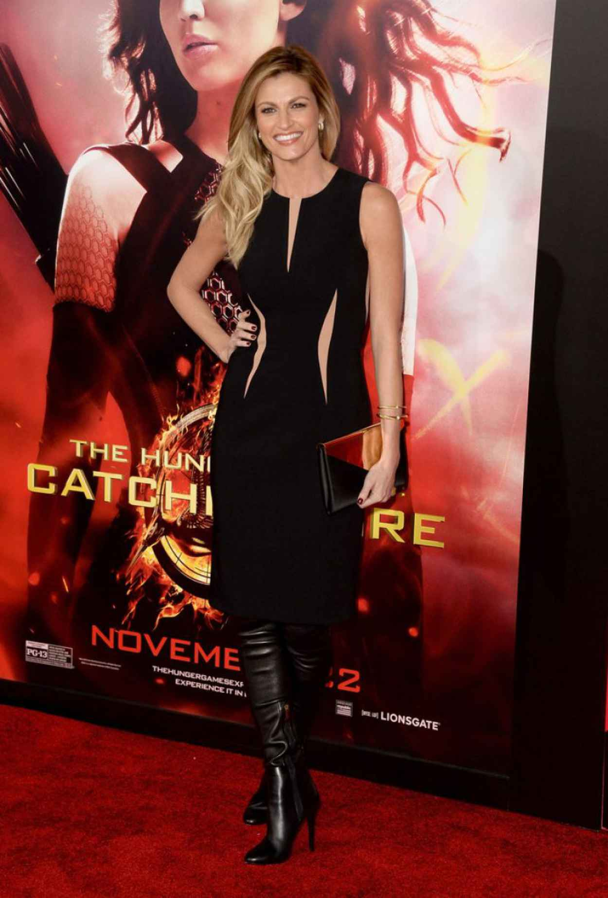 Erin Andrews Red Carpet Photos - THE HUNGER GAMES: CATCHING FIRE Premiere in Los Angeles-1