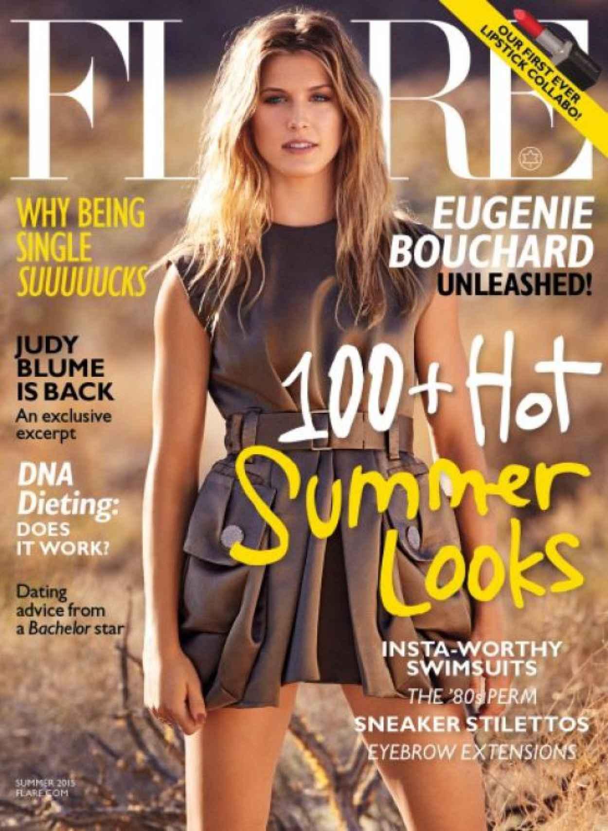 Eugenie Bouchard - Flare Magazine June 2015 Issue-2