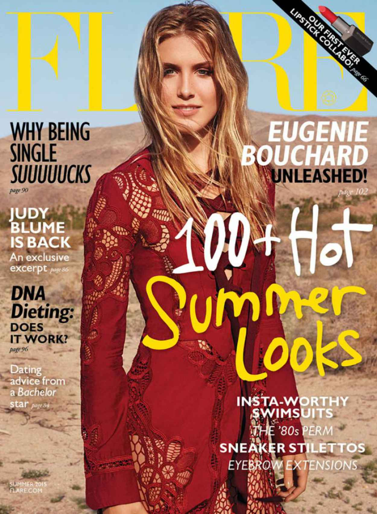 Eugenie Bouchard - Flare Magazine June 2015 Issue-4