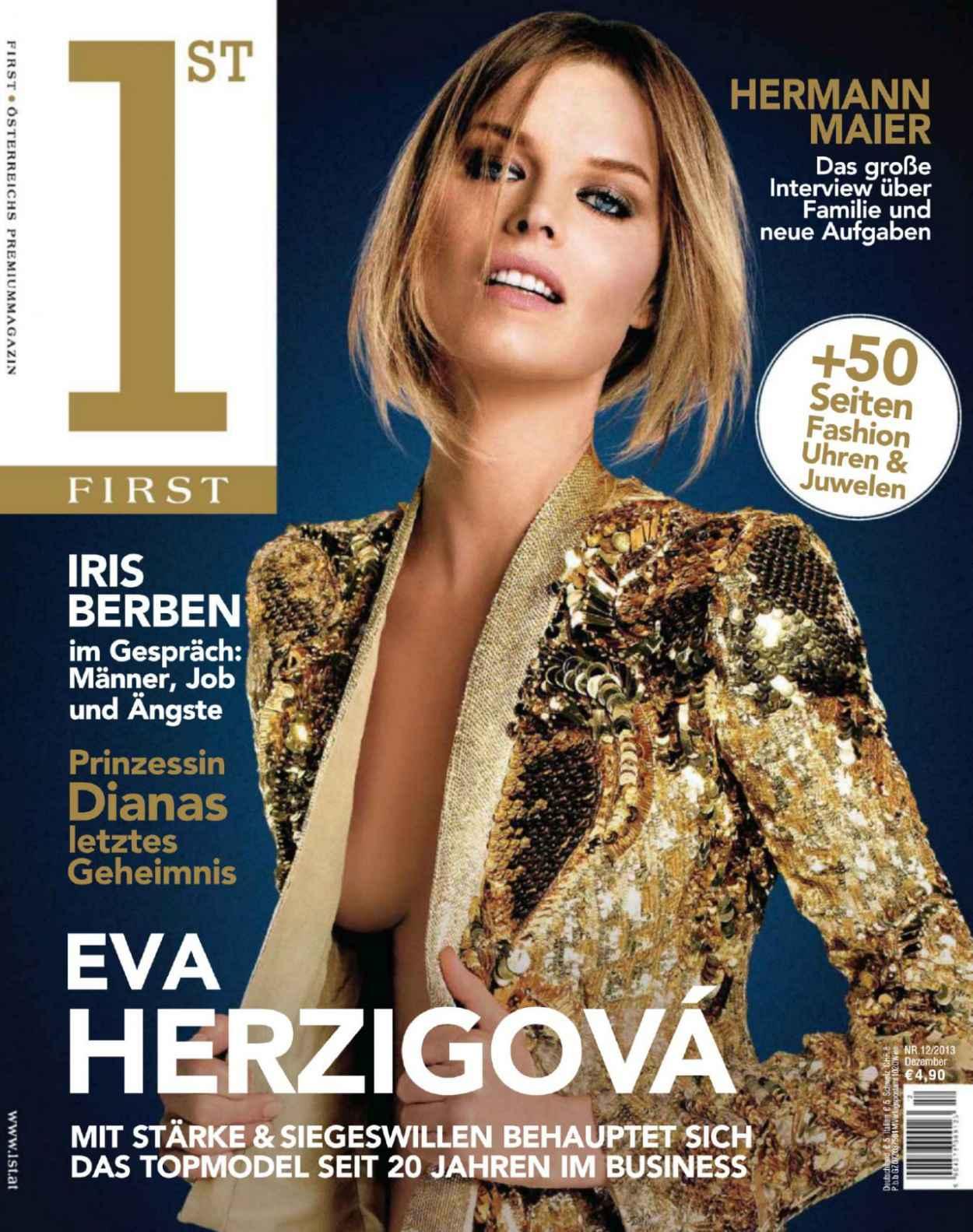 Eva Herzigova - FIRST Magazine (Germany) - December 2015 Issue-1