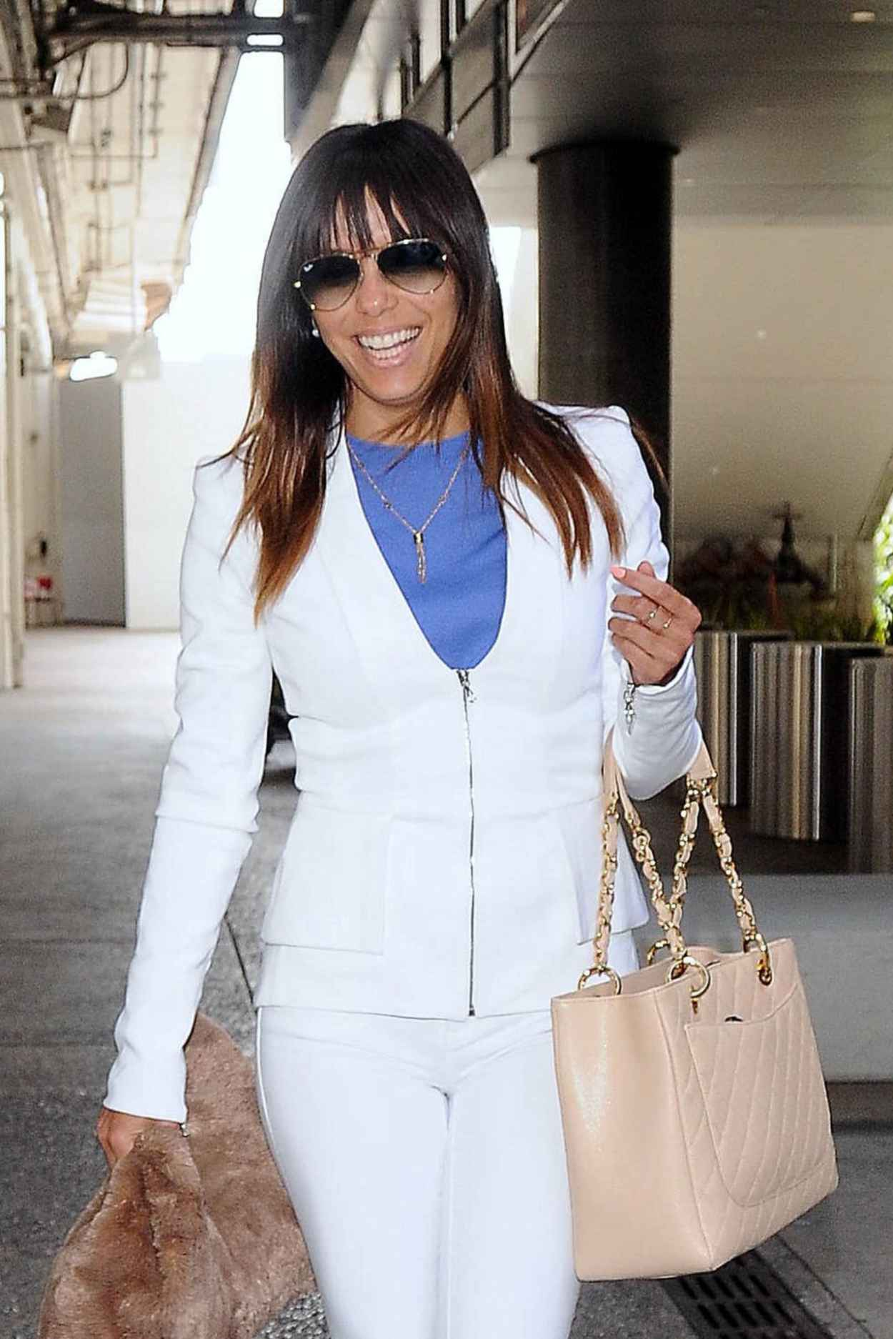 Eva Longoria - Arriving to the LAX Airport From Australia, March 2015-1