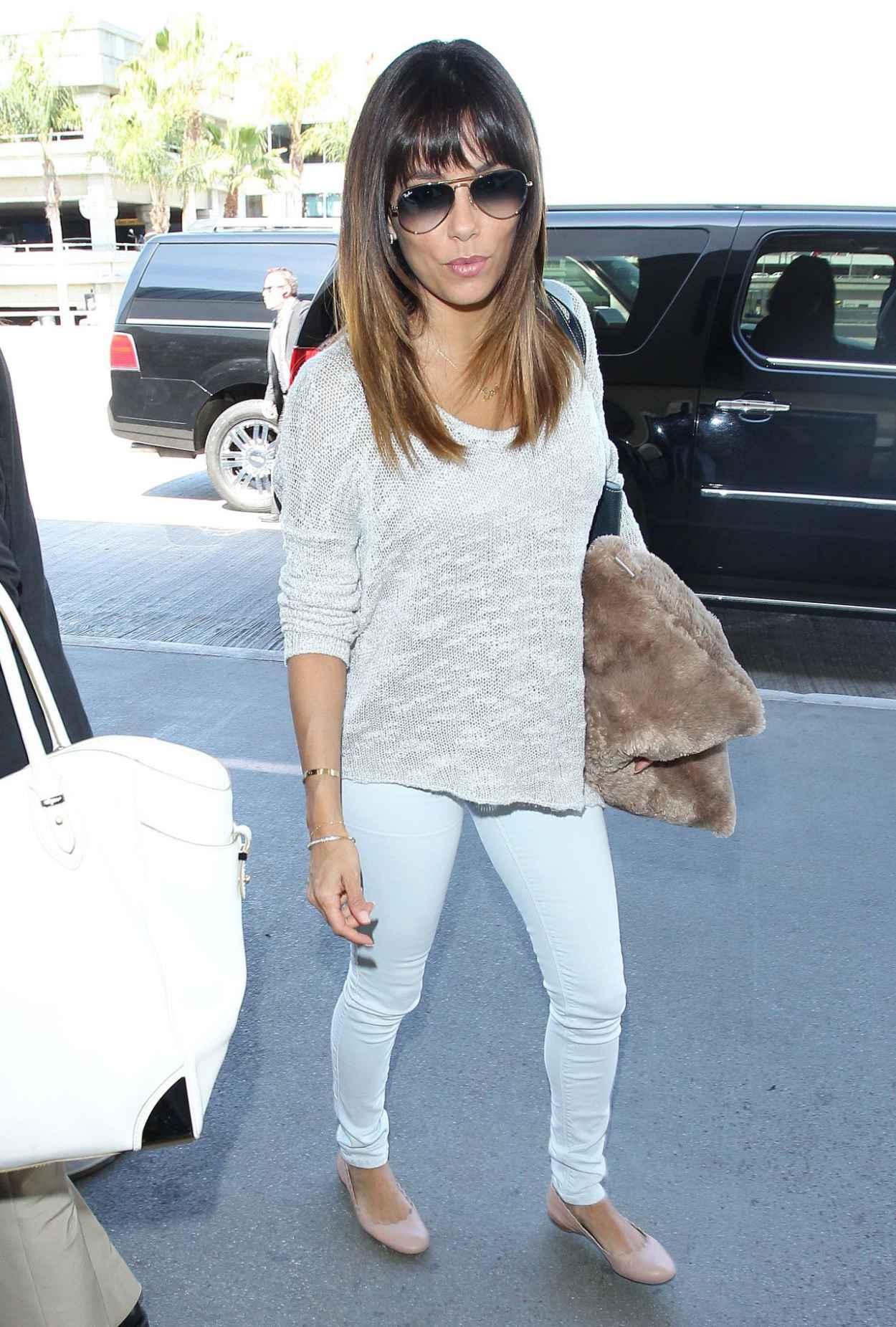 Eva Longoria Casual Style - Los Angeles International Airport - March 2015-1