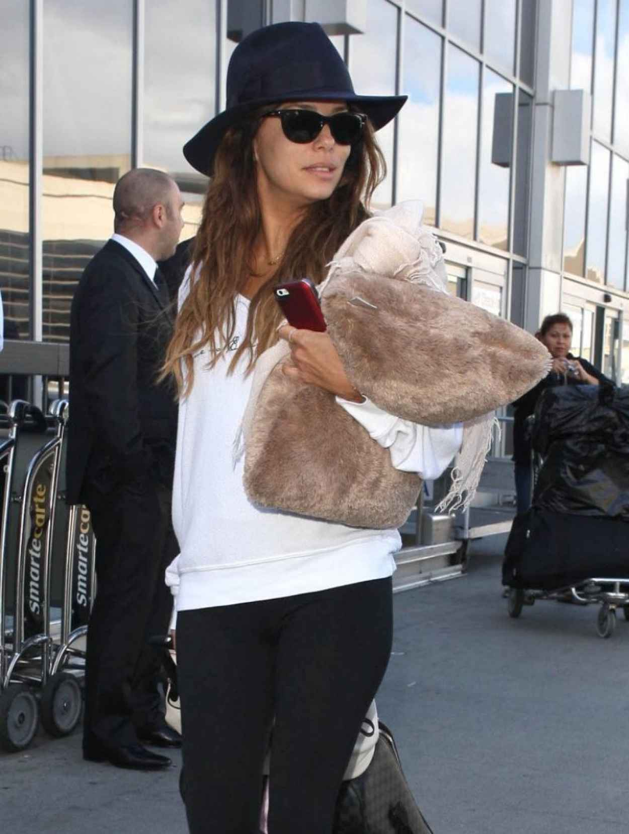 Eva Longoria Street Style - Lax Arrival Candids in Los Angeles-4