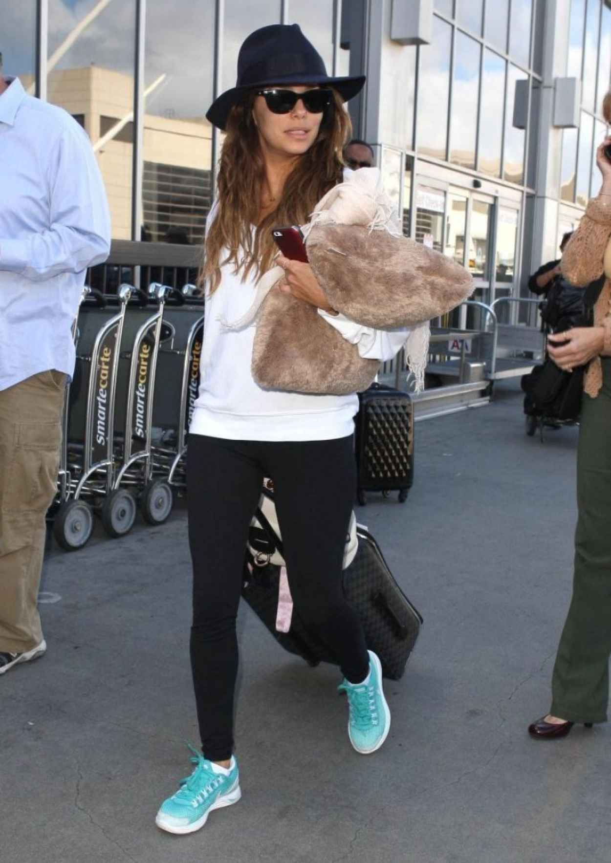 Eva Longoria Street Style - Lax Arrival Candids in Los Angeles-5