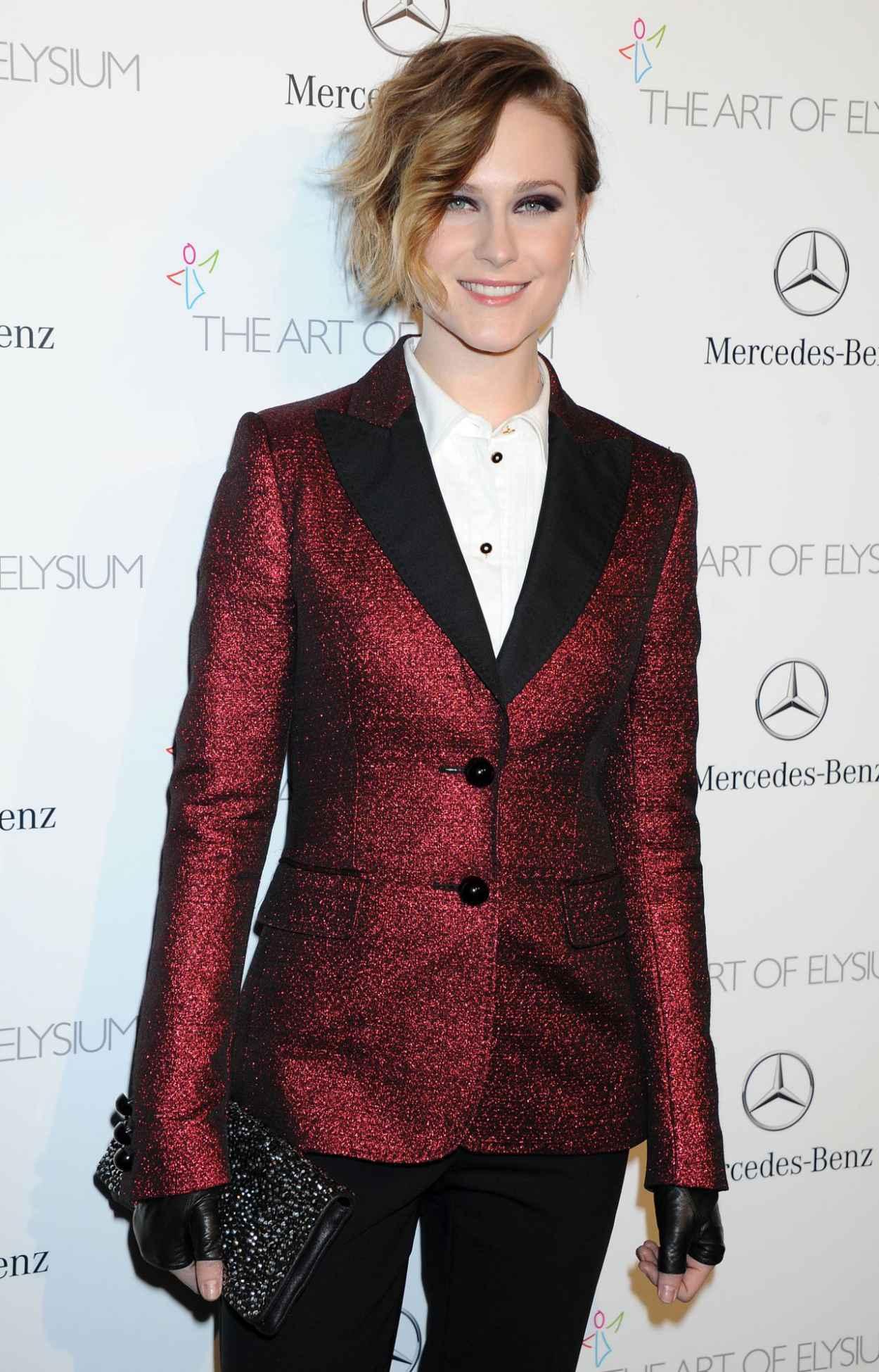 Evan Rachel Wood Wears Moschino at The Art of Elysium HEAVEN Gala, January 2015-1