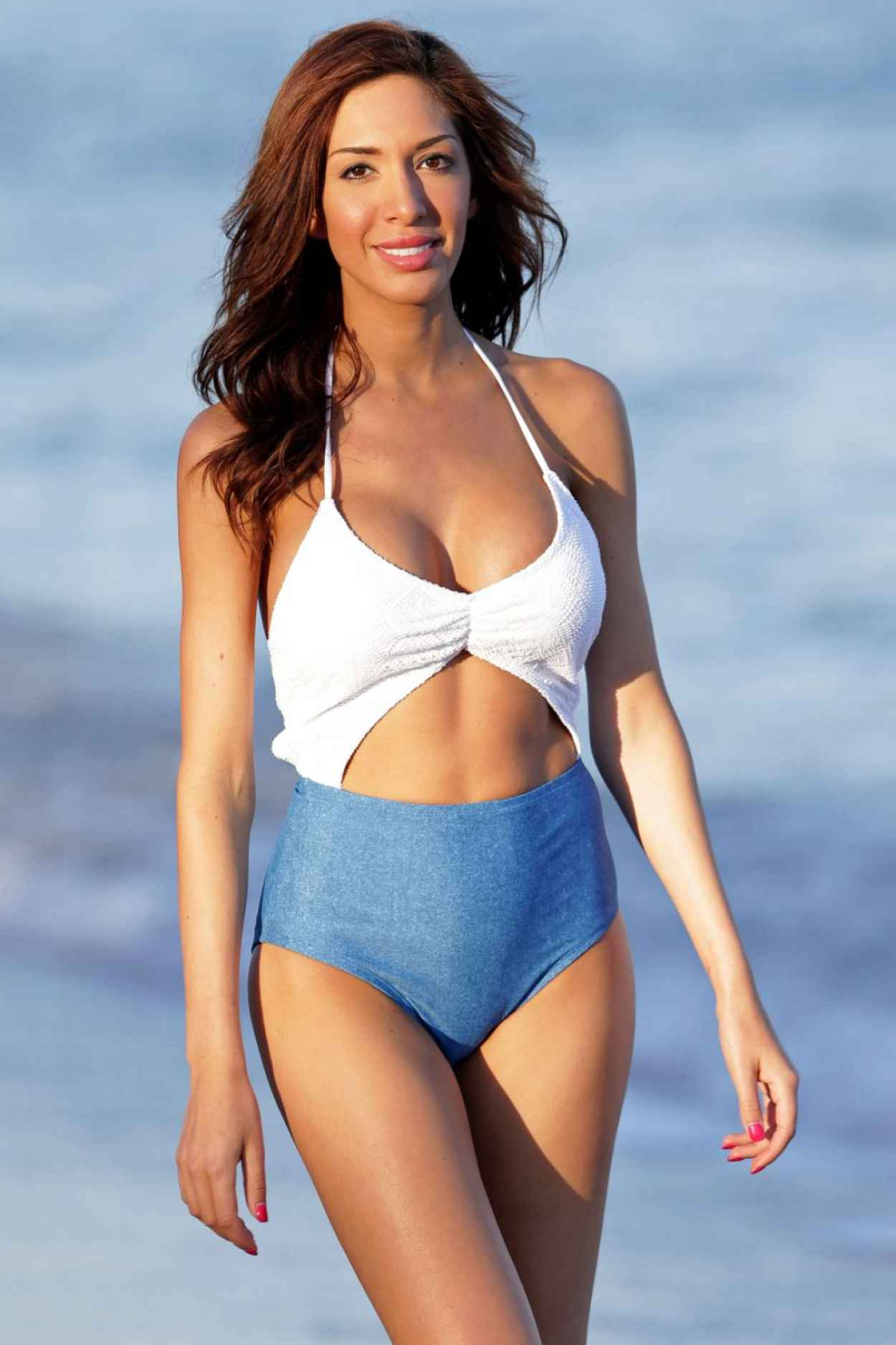 Farrah Abraham In a Swimsuit at The Beach In Miami, January 2015-1