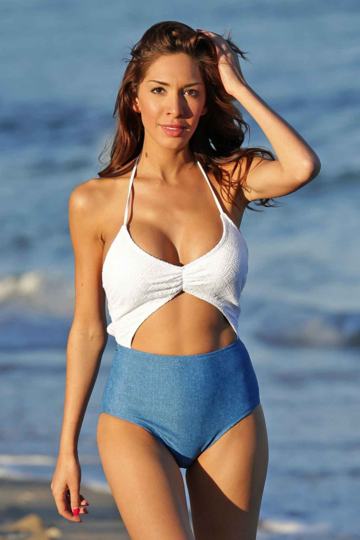 Farrah Abraham In a Swimsuit at The Beach In Miami, January 2015-2