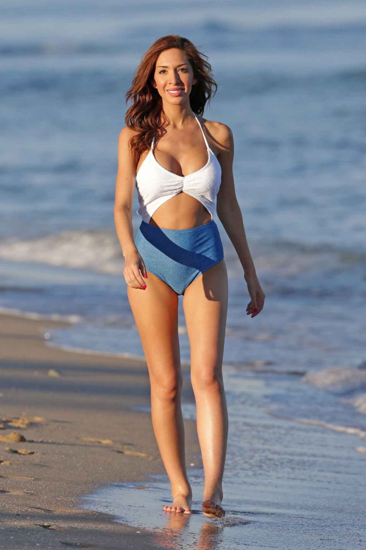 Farrah Abraham In a Swimsuit at The Beach In Miami, January 2015-4
