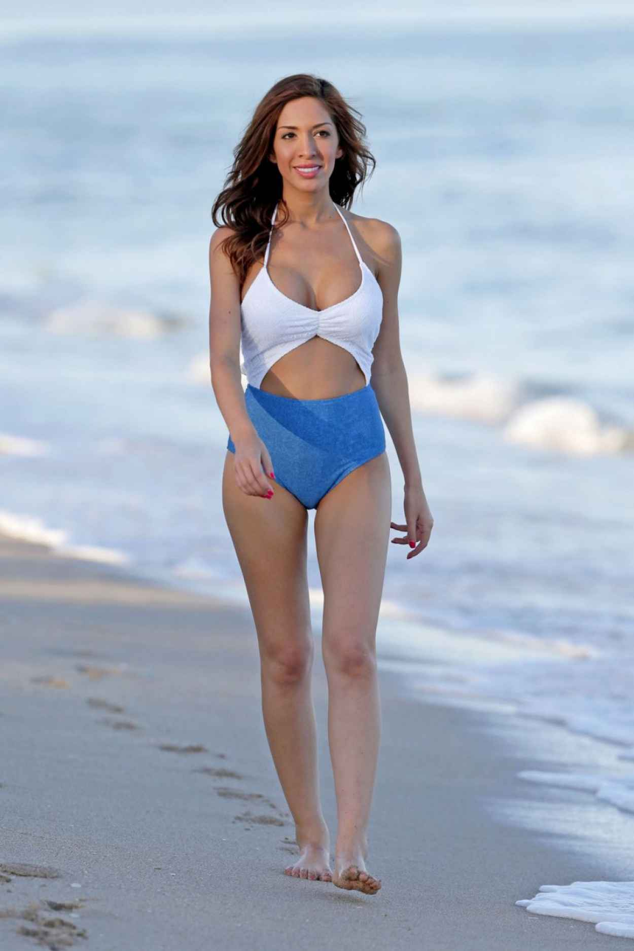 Farrah Abraham In a Swimsuit at The Beach In Miami, January 2015-5