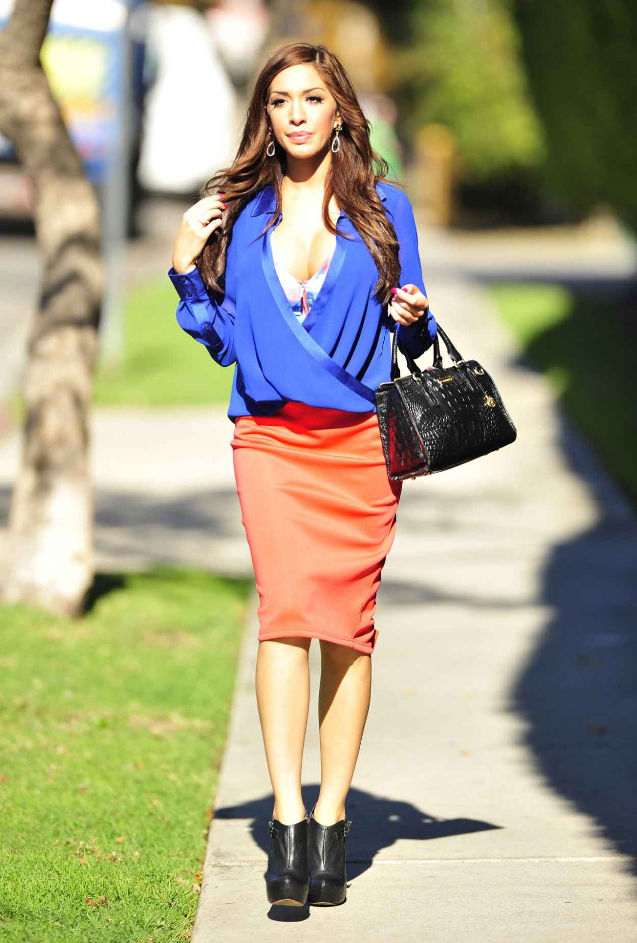 Farrah Abraham Street Style - Out fo Shopping - January 2015-2