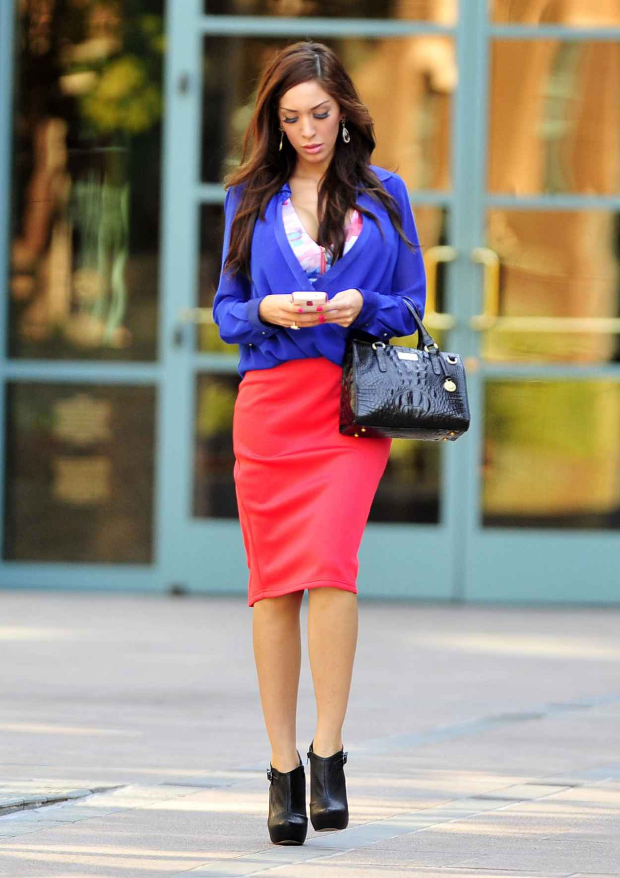 Farrah Abraham Street Style - Out fo Shopping - January 2015-4