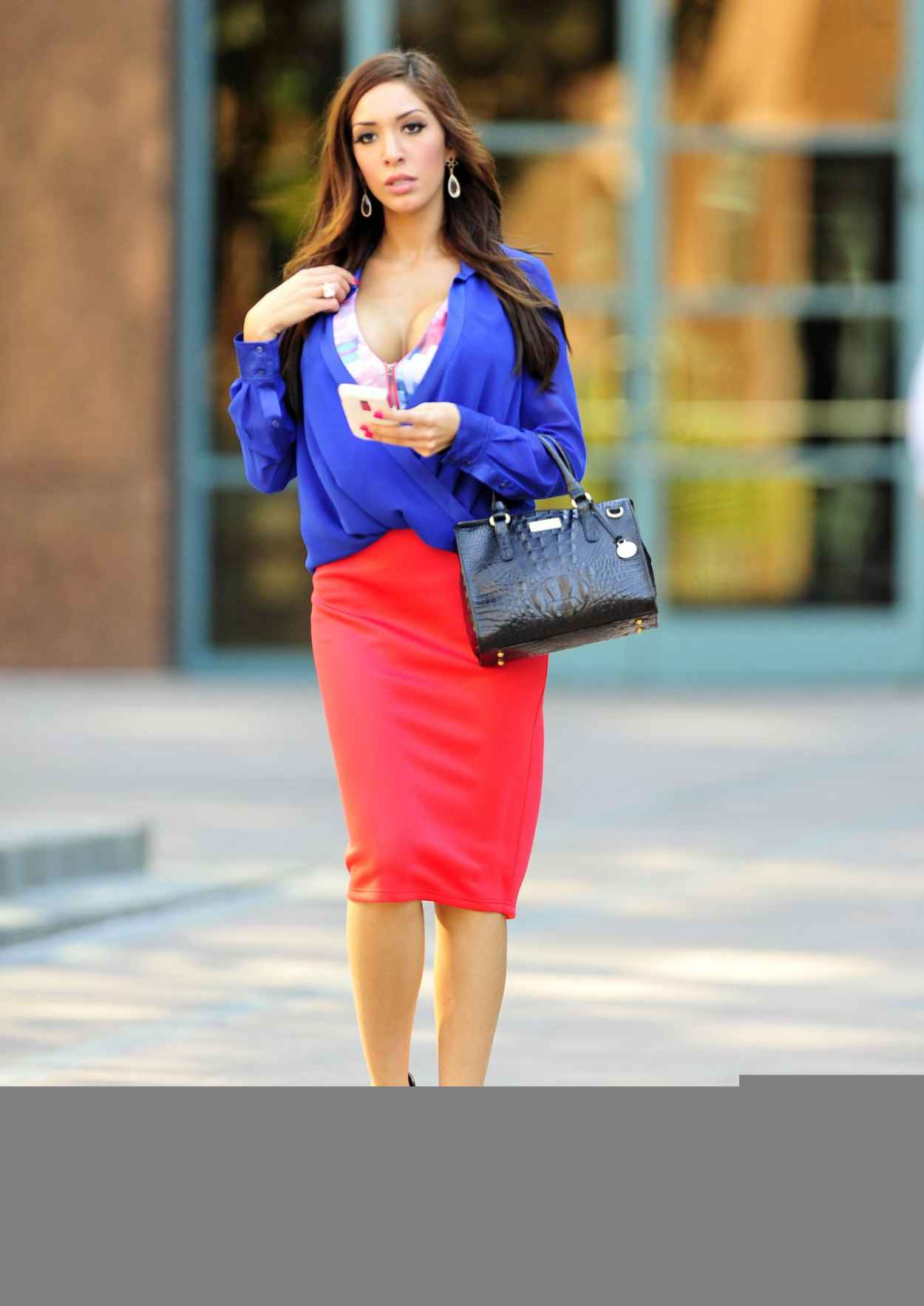 Farrah Abraham Street Style - Out fo Shopping - January 2015-5