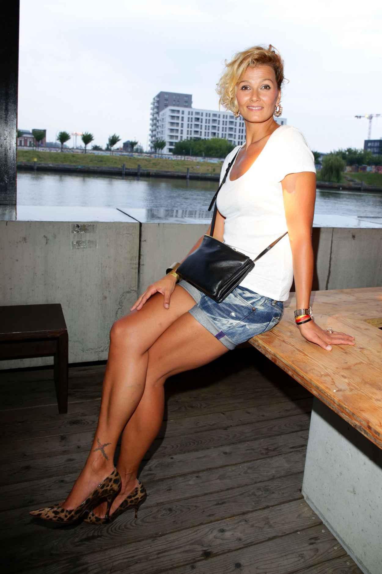 Franziska van Almsick - Mercedes-Benz Fashion Week in Berlin - July 2015-4