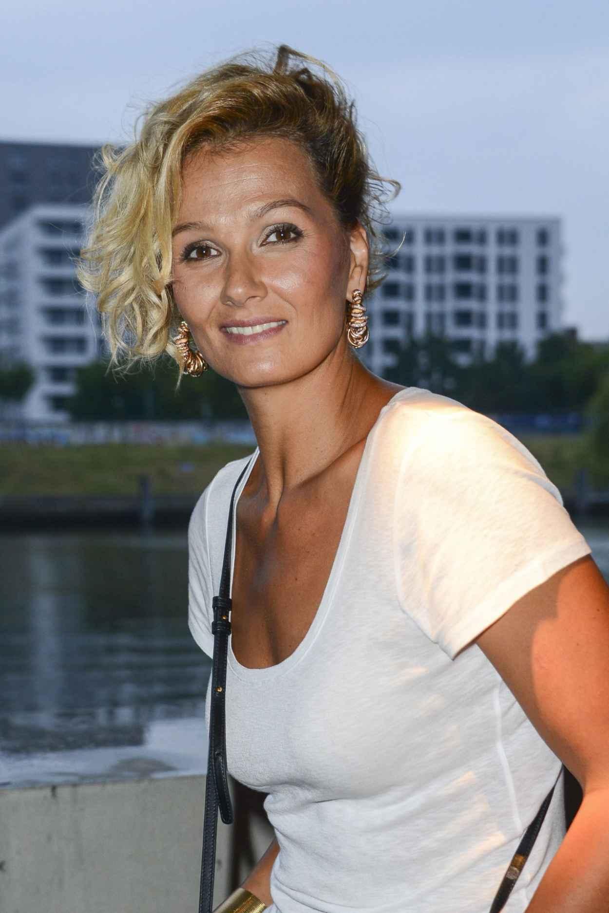 Franziska van Almsick - Mercedes-Benz Fashion Week in Berlin - July 2015-1