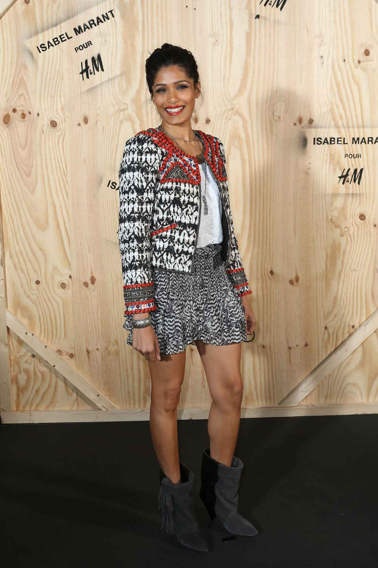 Freida Pinto at Isabel Marant for H&M Photocall in Paris-1