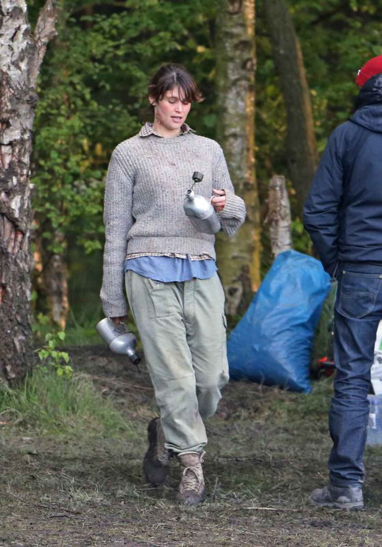 Gemma Arterton - on the set of She Who Brings Gifts in the West Midlands-1