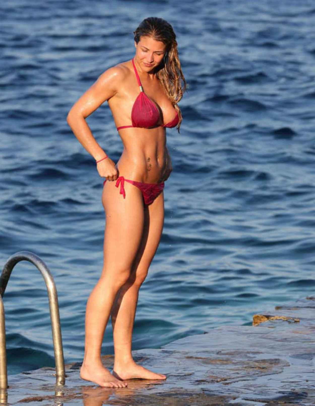 Gemma Atkinson in Pink Bikini - March 2015-1