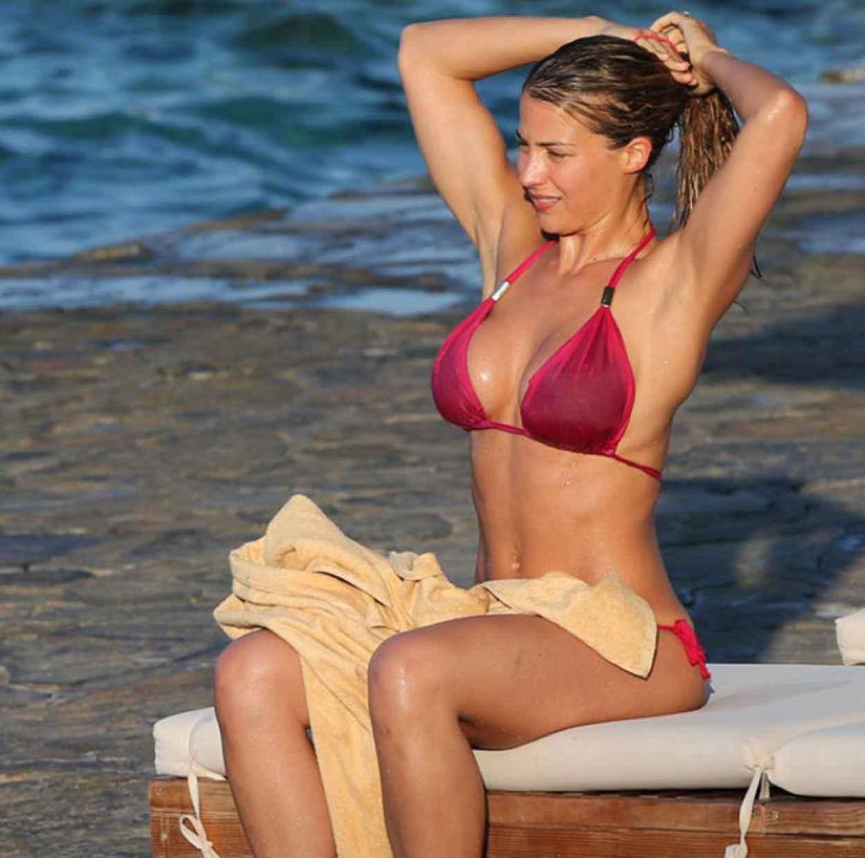 Gemma Atkinson in Pink Bikini - March 2015-2