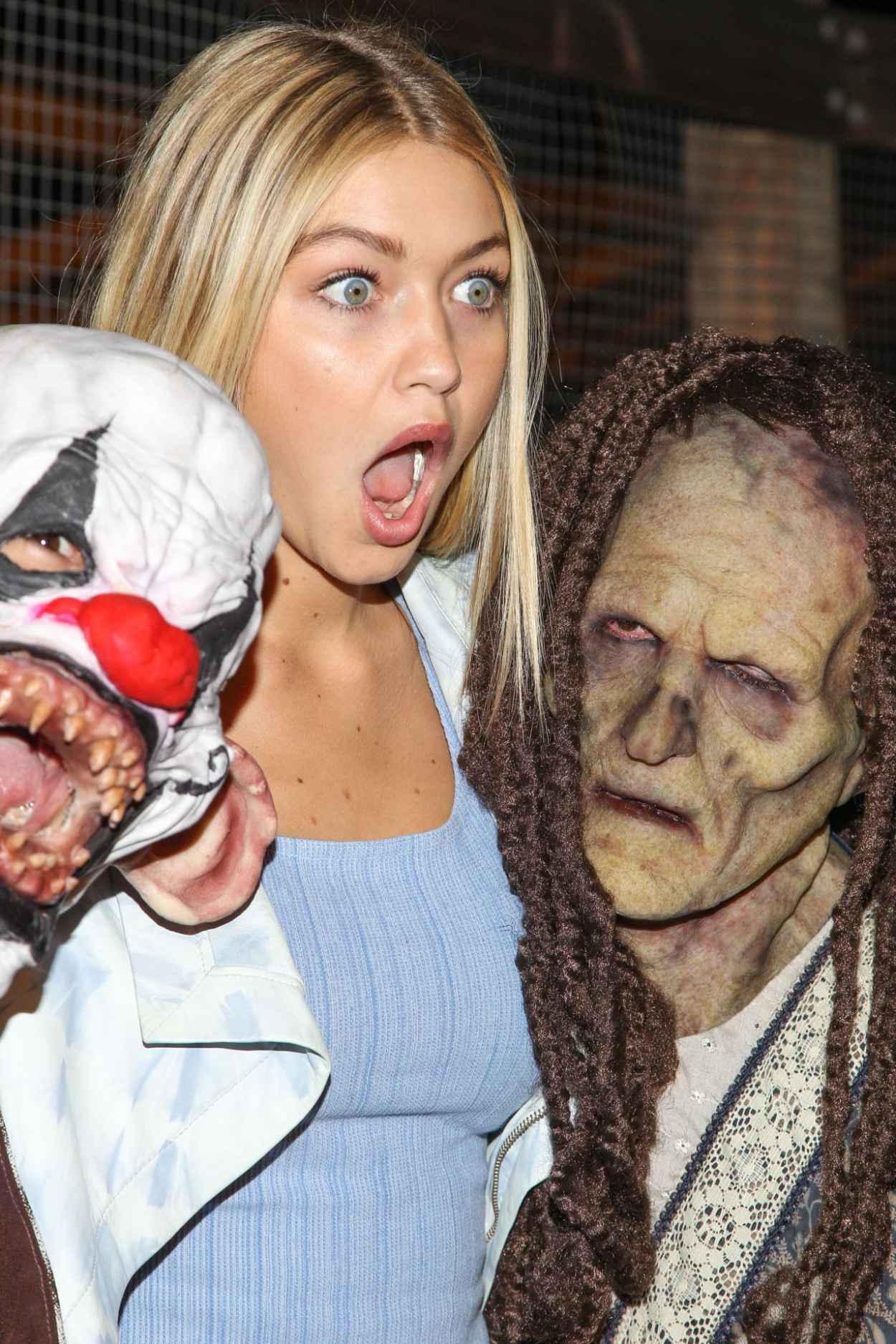 Gigi Hadid at Knotts Scary Farm Celebrity VIP Opening at Knott-s Berry Farm-1