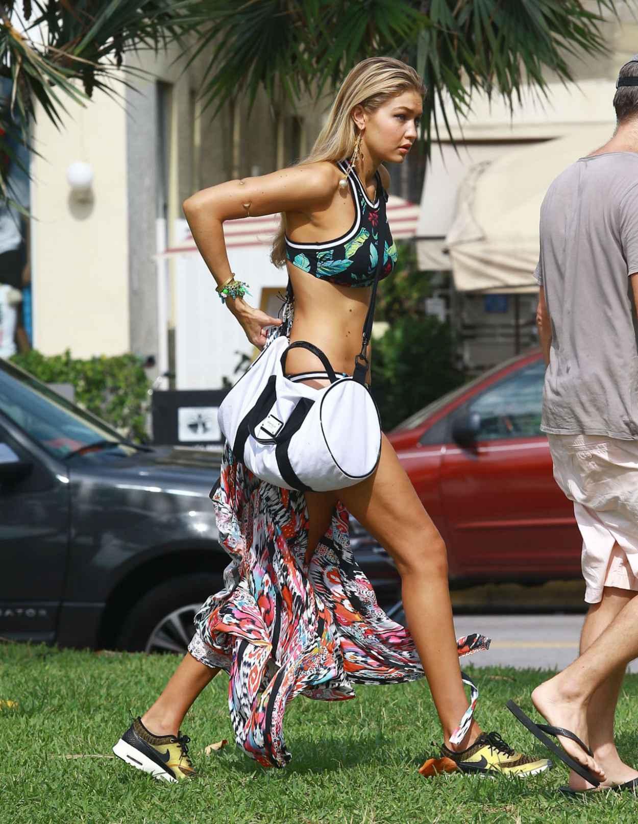 Gigi Hadid - Bikini Photoshoot in Miami, April 2015