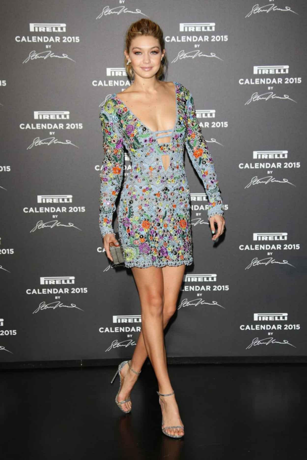 Gigi Hadid - Pirelli Calendar 2015 Event in Milan (Italy)-1