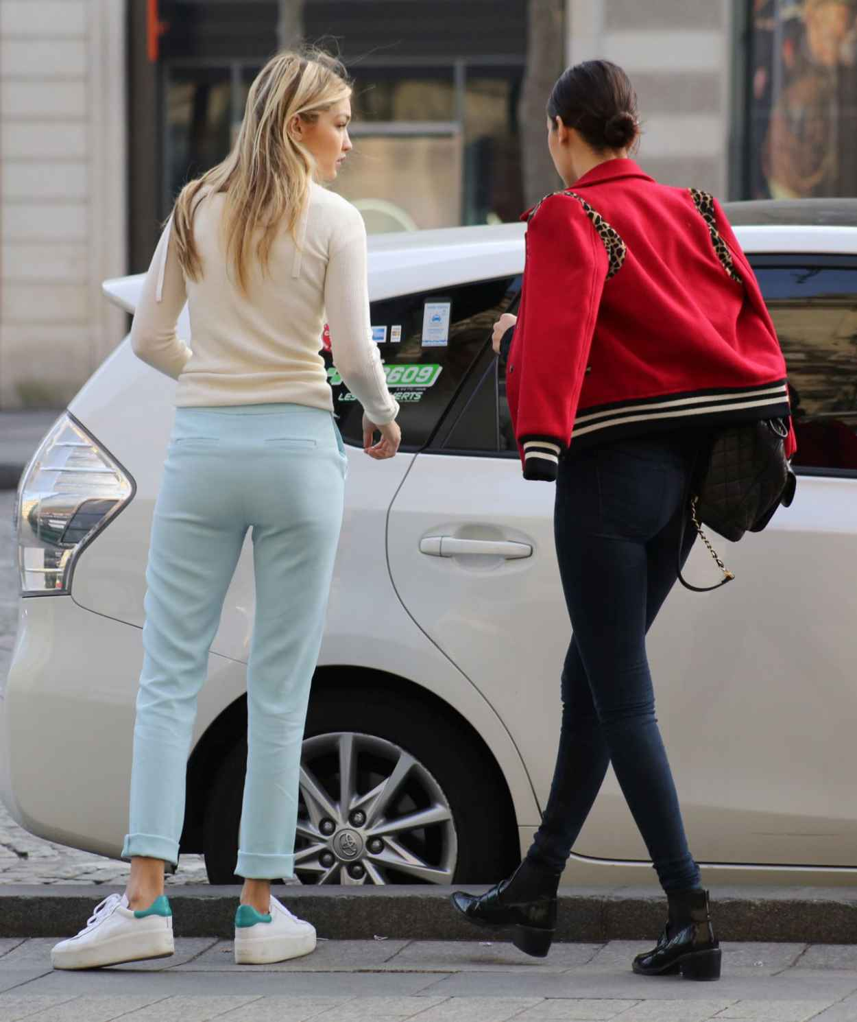 Gigi Hadid Street Style Out In Paris March 2015