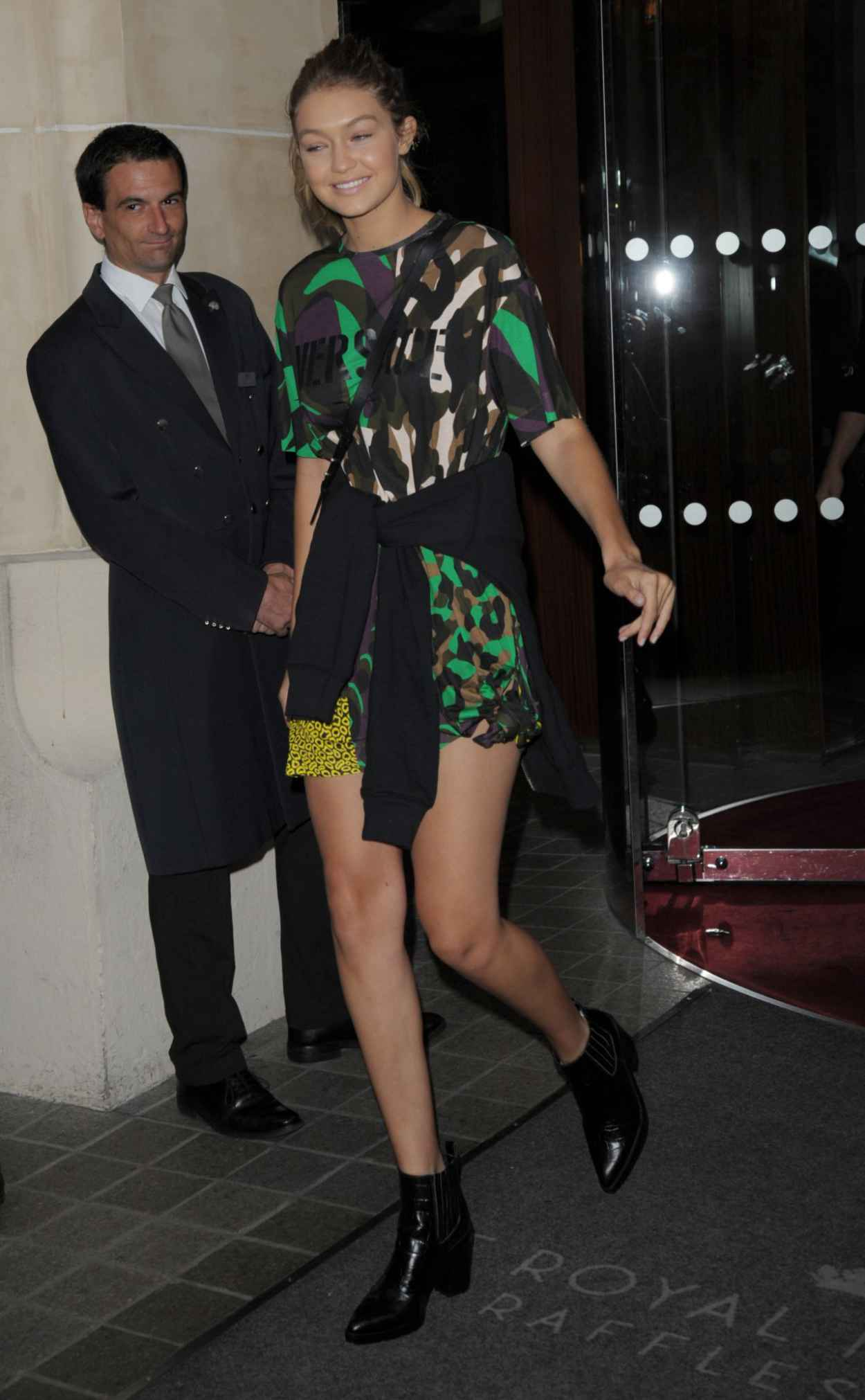 Gigi Hadid Style -Leaving a Hotel in Milan, Italy, September 2015-2