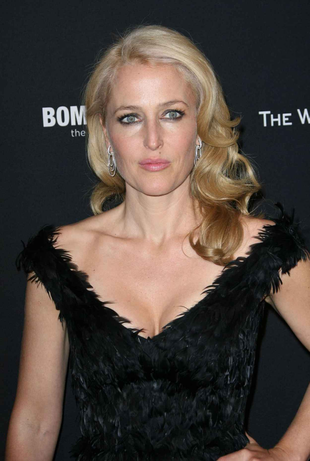 Gillian Anderson at The Weinstein Company Golden Globe 2015 After Party-1