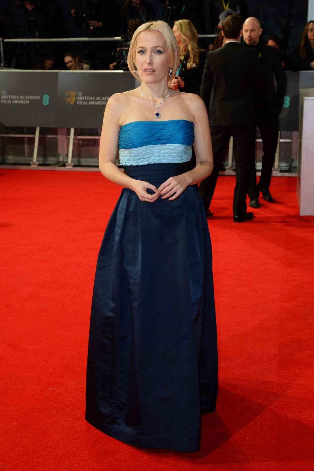 Gillian Anderson - BAFTA 2015 - The Royal Opera House in London-1