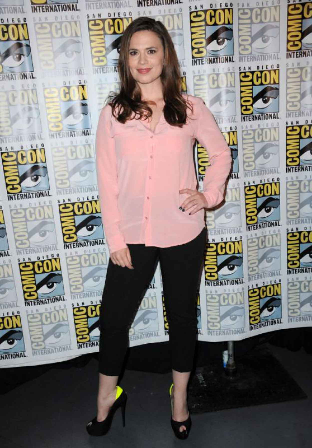 Hayley Atwell - Women Who Kick Ass Panel at Comic Con in San Diego-1