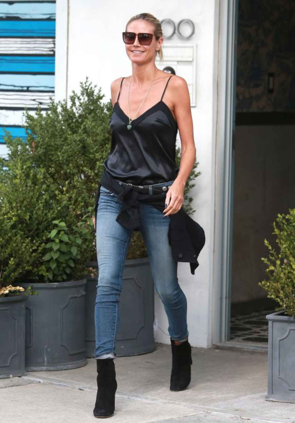 Heidi Klum Casual Stule - Out in New York, August 2015-1
