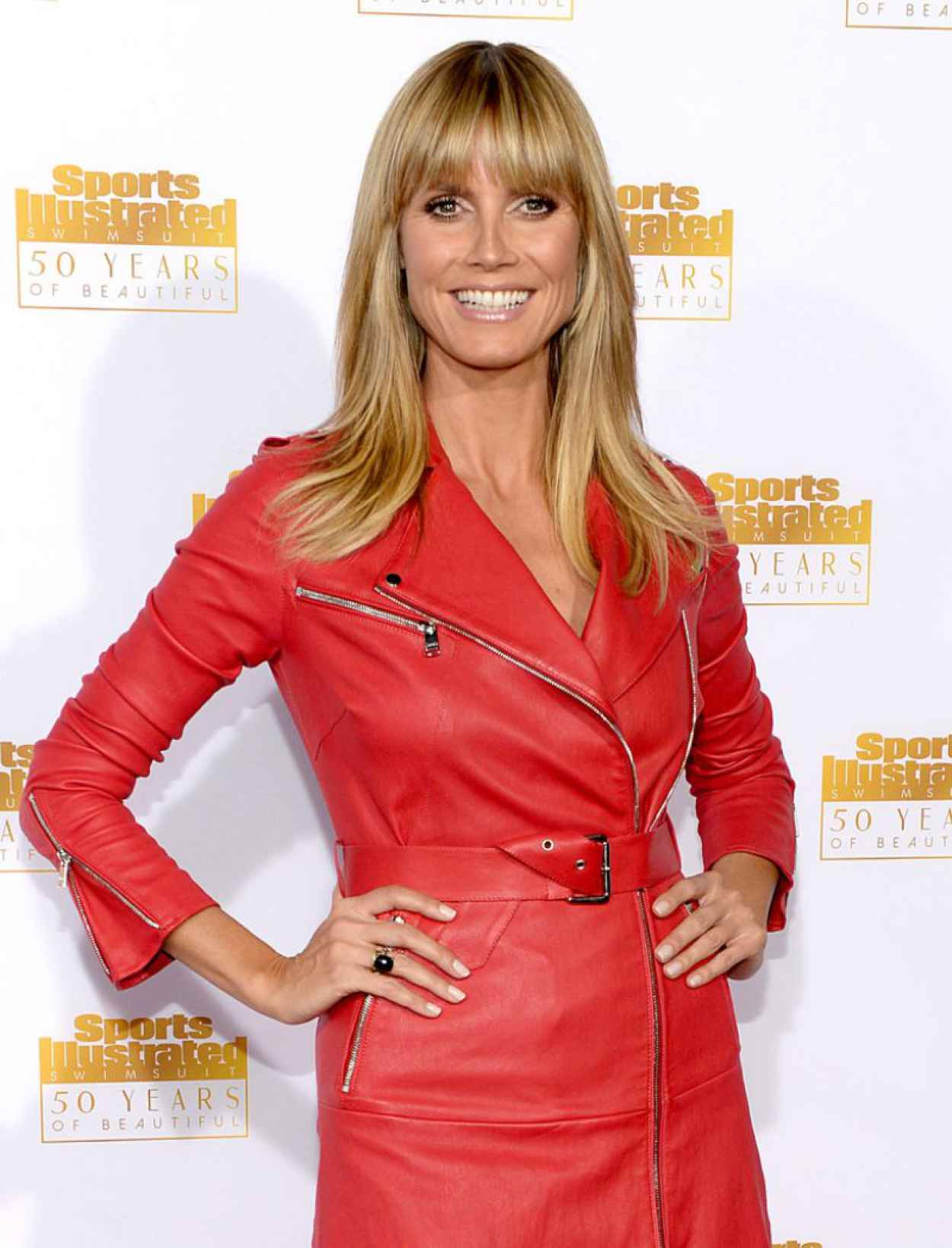 Heidi Klum Red Carpet Photos from 50th Anniversary of the SI Swimsuit Issue Celebration in Hollywood-1